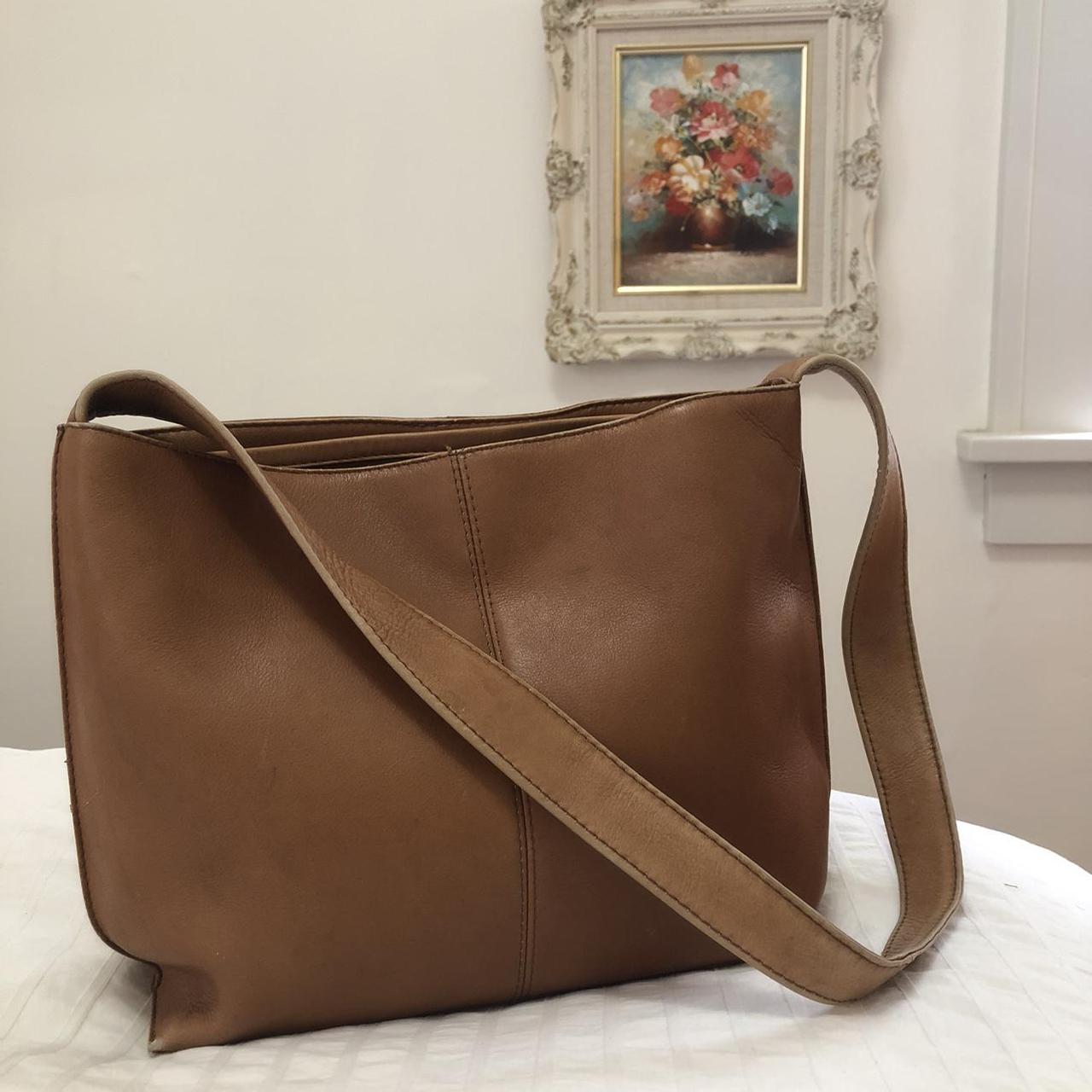 Product Image 1 - vintage brown leather hobo bag