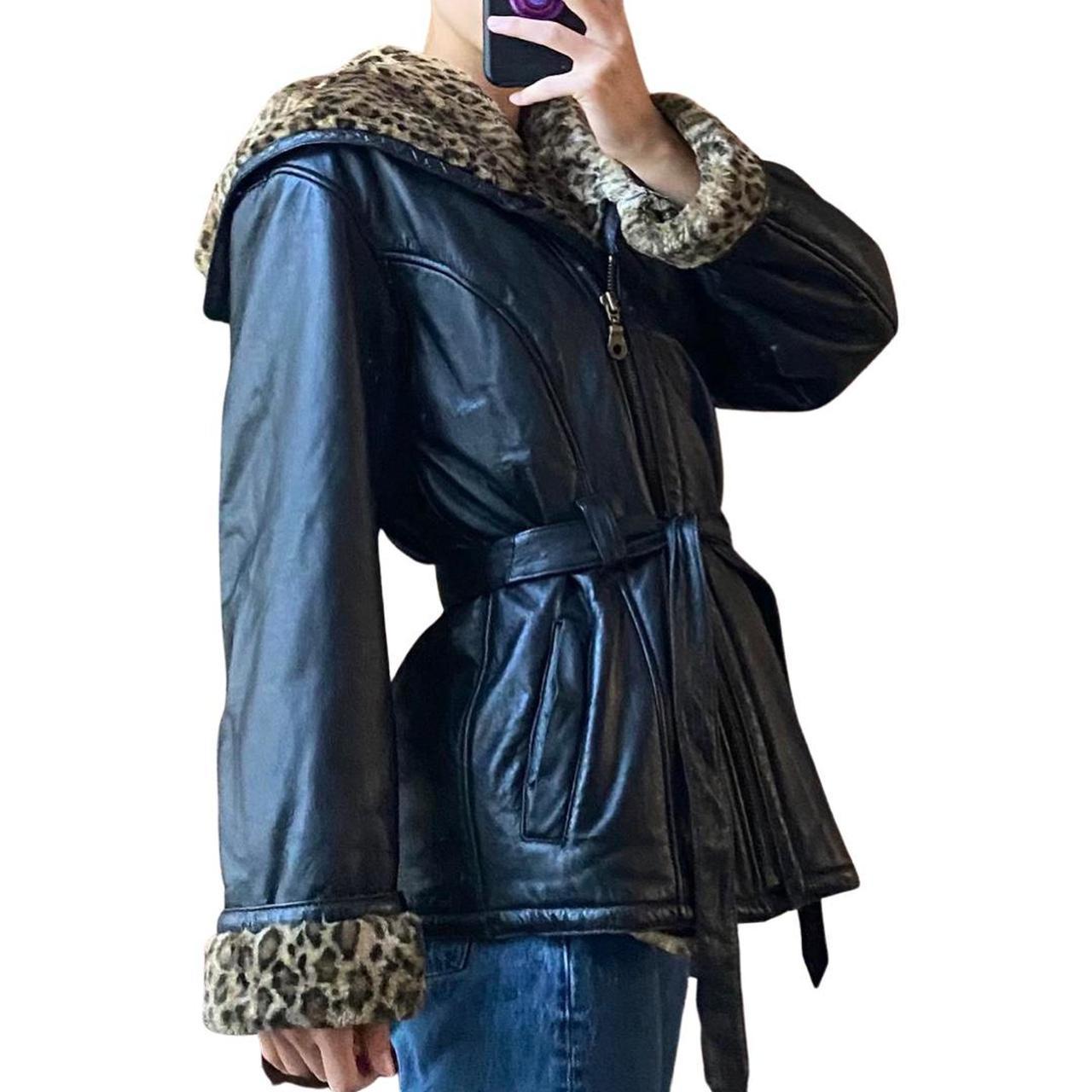 Product Image 1 - INSANE vintage leather belted jacket
