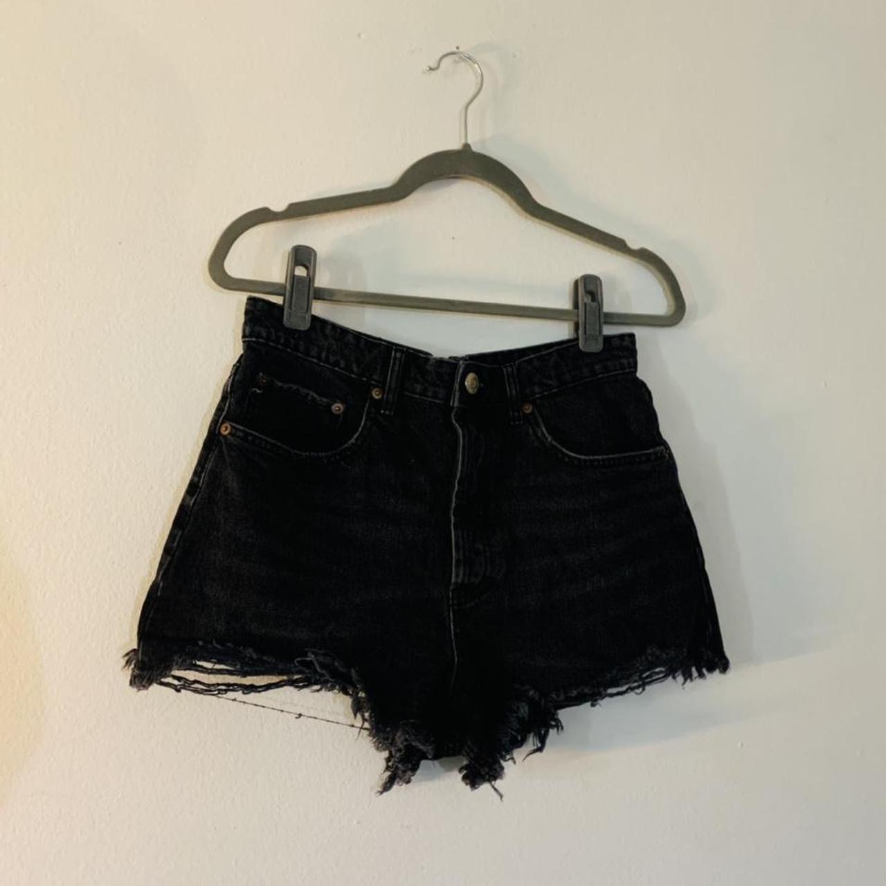 Product Image 1 - zara black denim shorts. NWOT