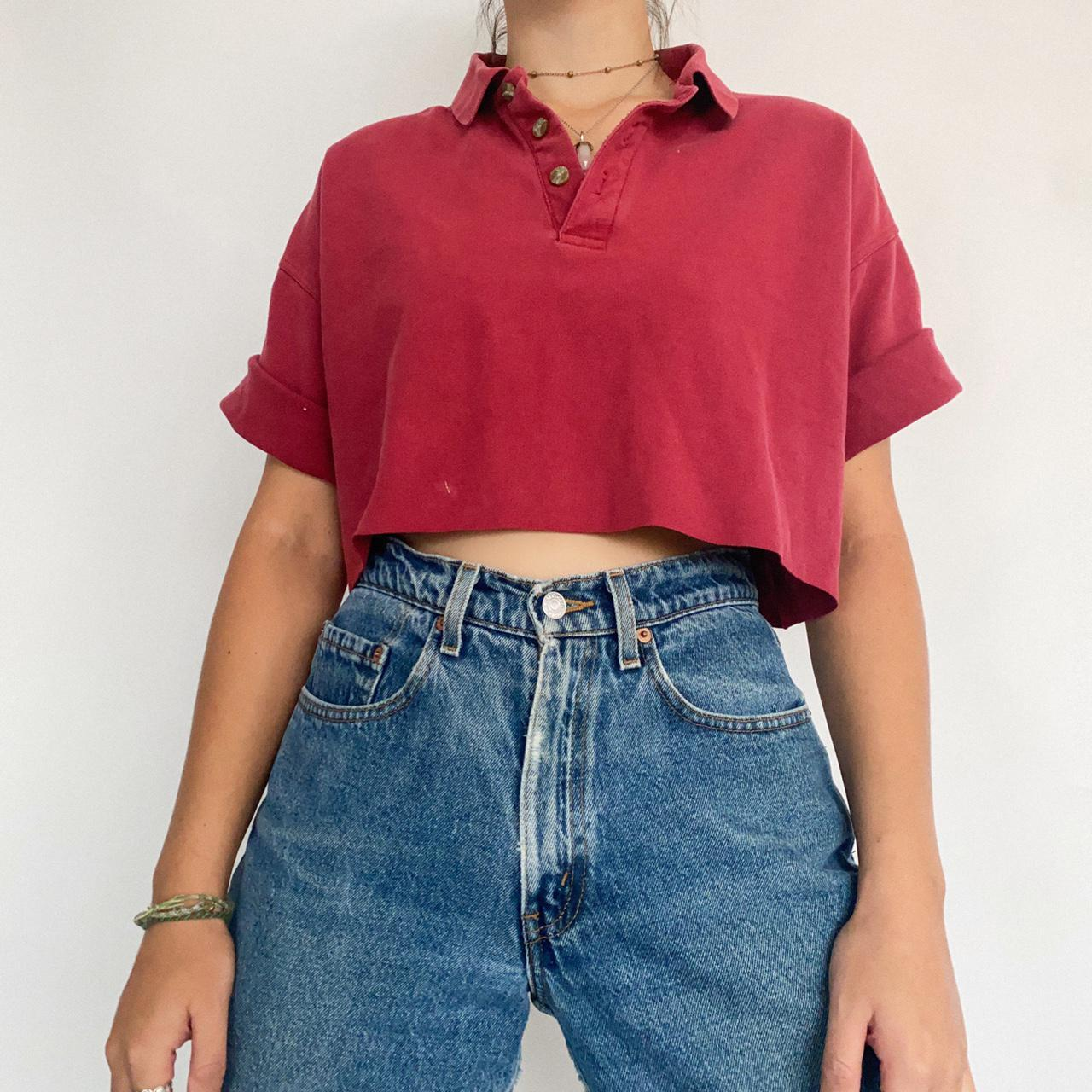 Product Image 1 - 90s vintage red half button