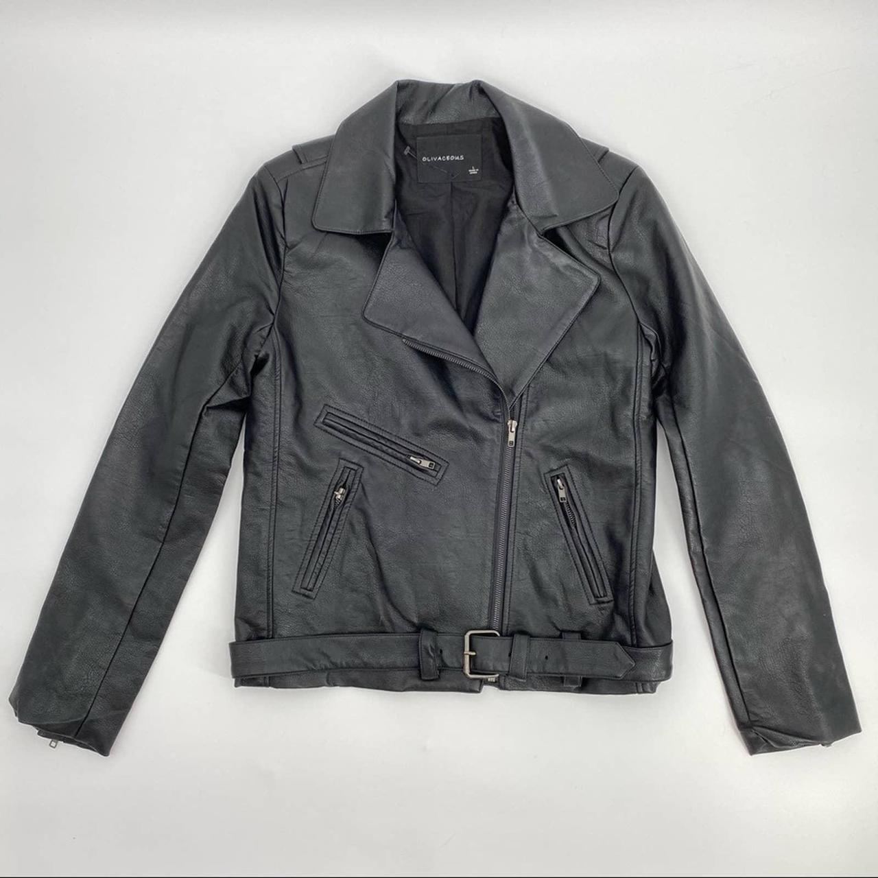 Product Image 1 - Olivaceous Black vegan leather moto