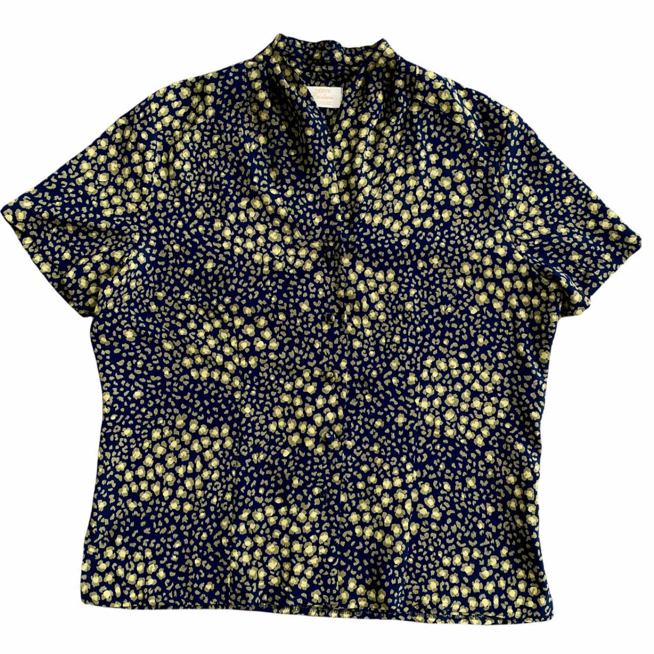 Product Image 1 - Vintage green printed polyester blouse