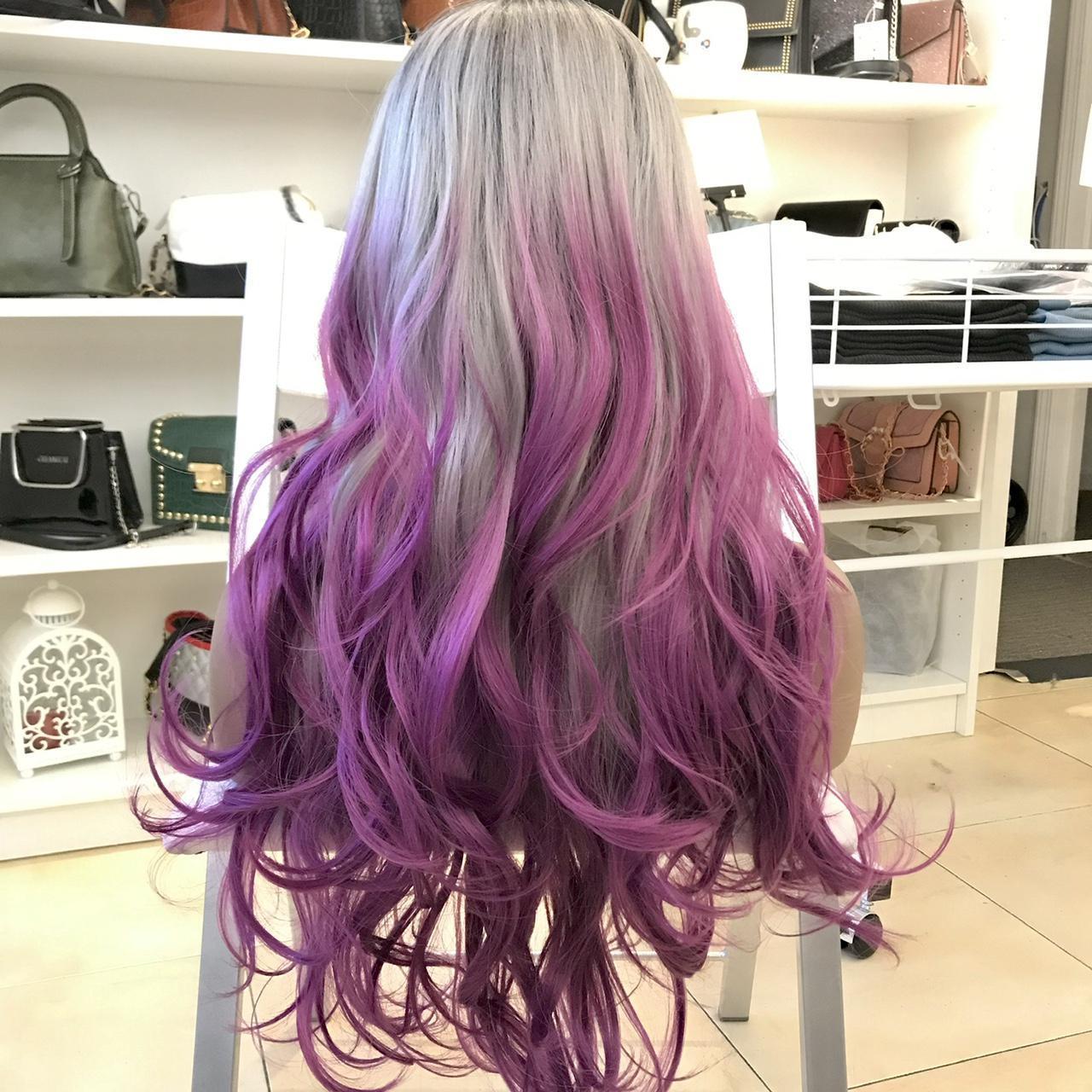 Product Image 1 - Human hair blend purple/sliver ombré