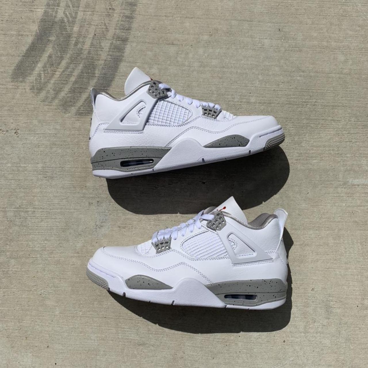 "Product Image 1 - Jordan 4 ""White Oreo"" Men's size"