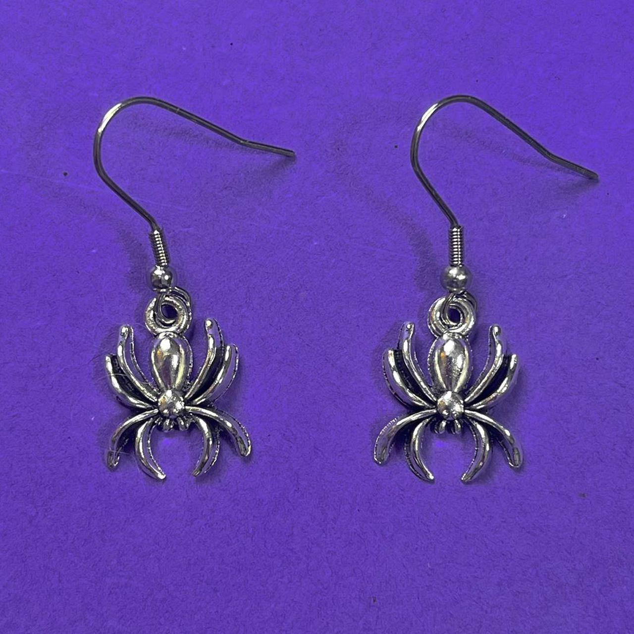 Product Image 1 - silver spider charm earrings   comes