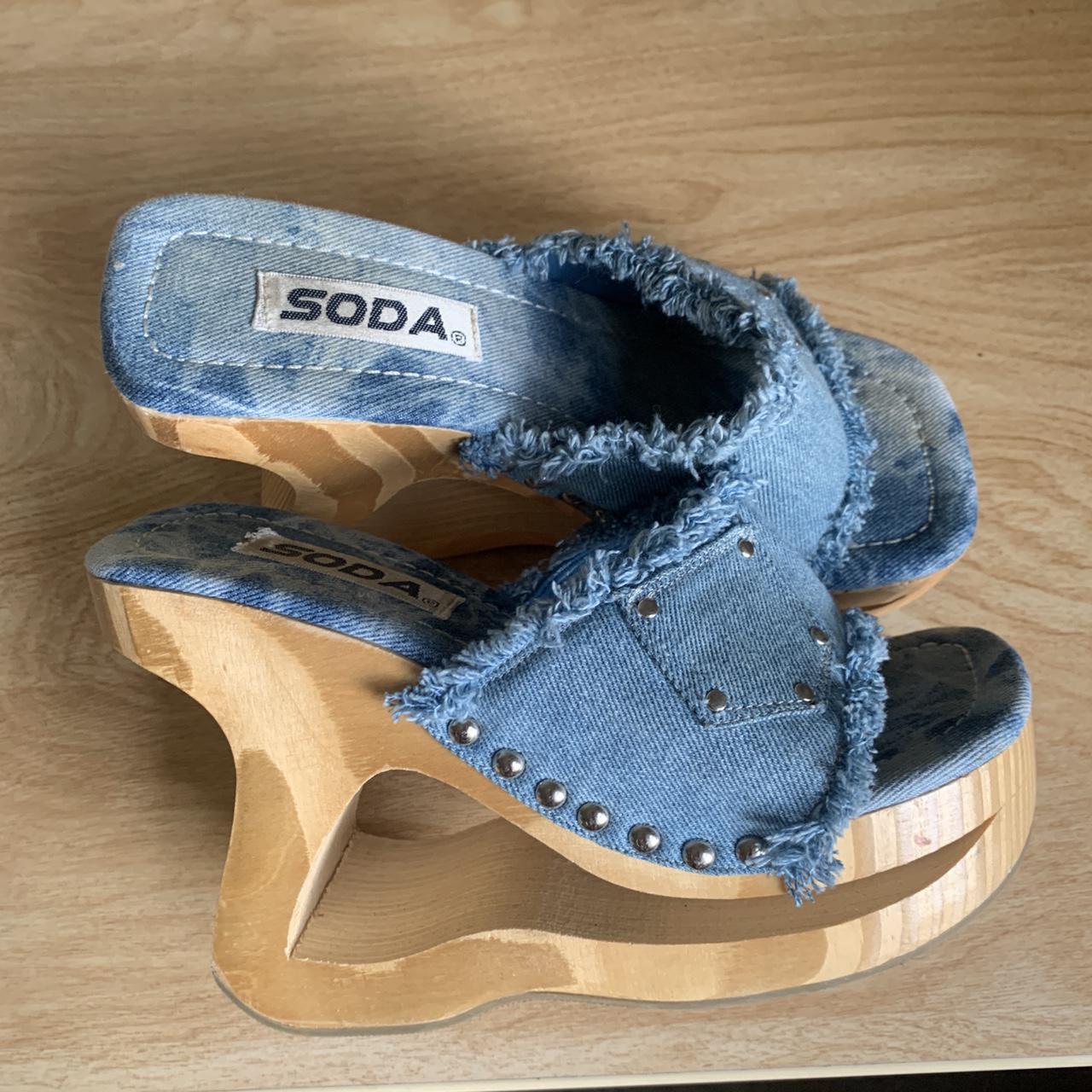 Product Image 1 - Insane Soda denim platform heels.