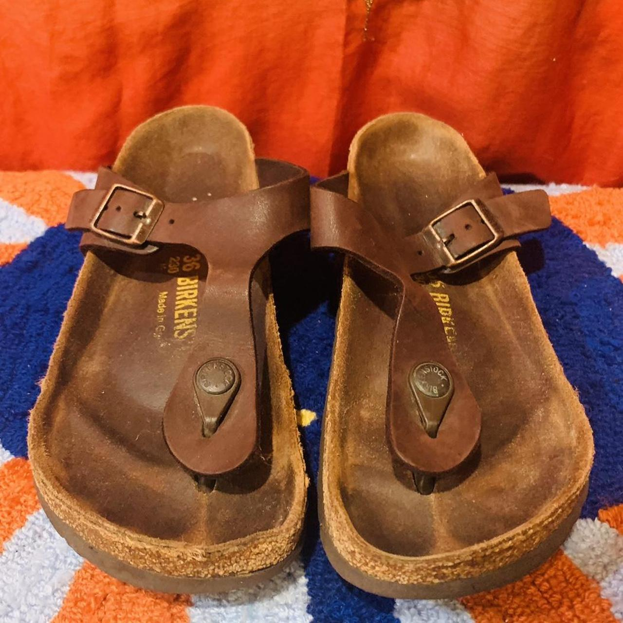 Product Image 1 - Brown Leather Birkenstock Sandals  Size: