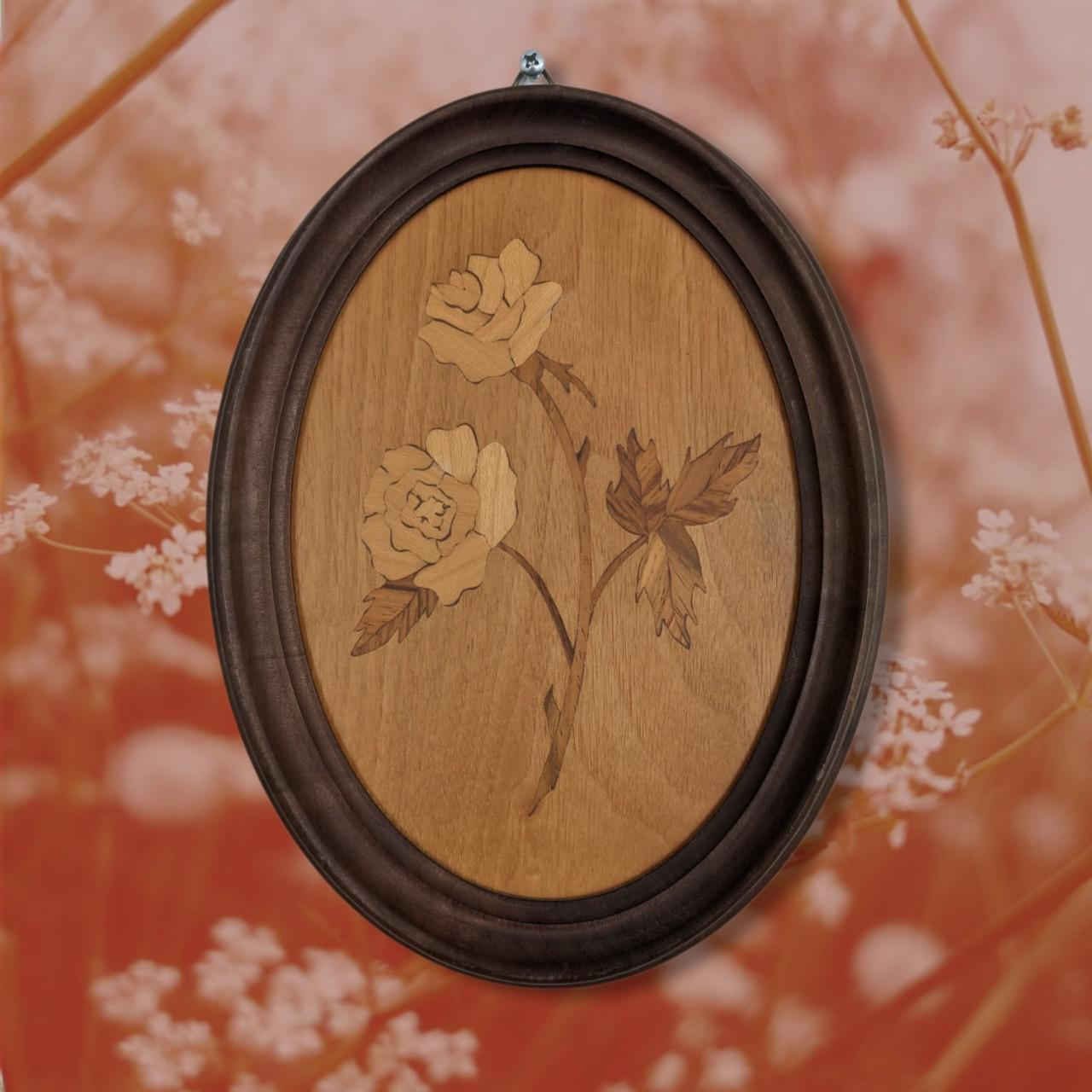 Product Image 1 - Handmade Wooden Rose Cameo Oval