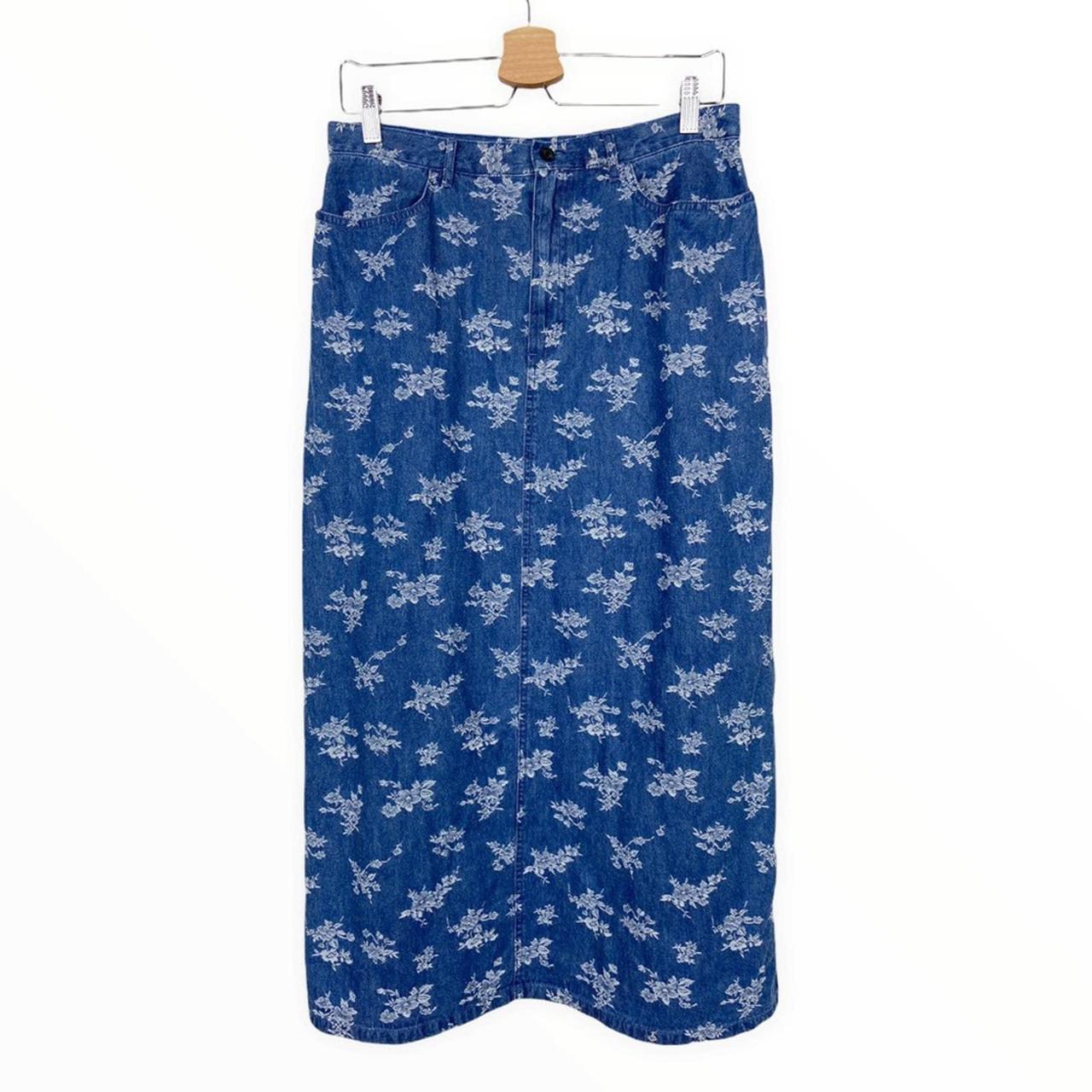 Product Image 1 - Vintage Cottagecore Denim Maxi Skirt