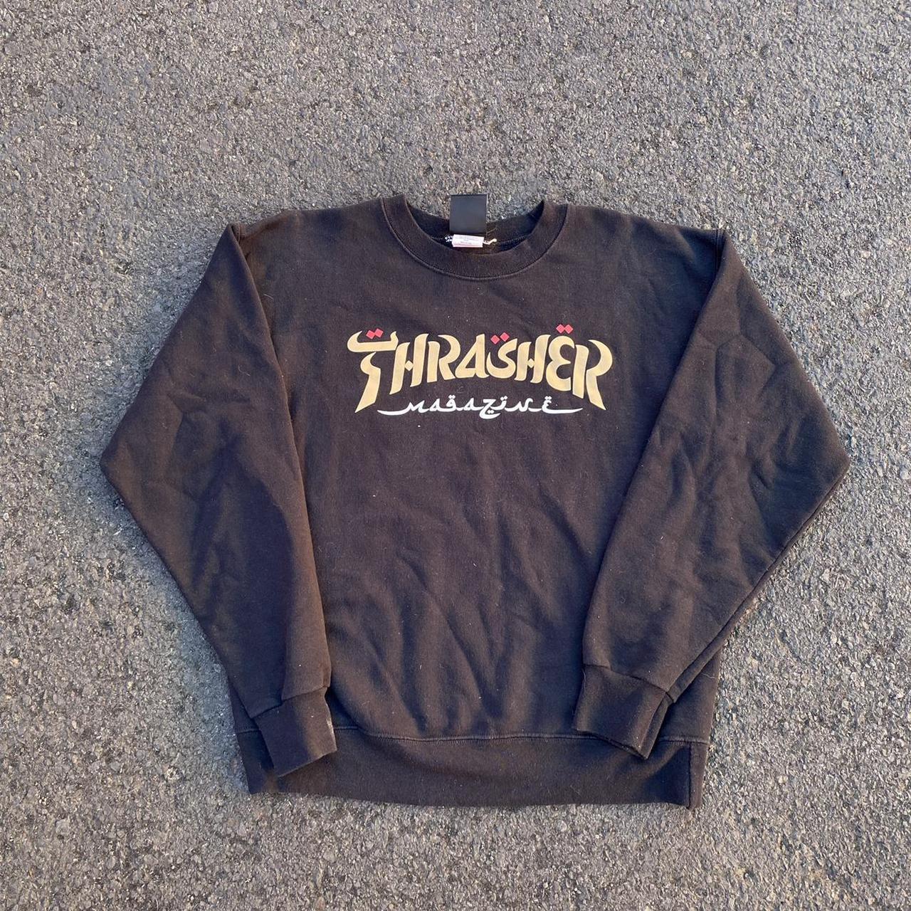 Product Image 1 - Black Thrasher skater sweater 20x23    #depopseller