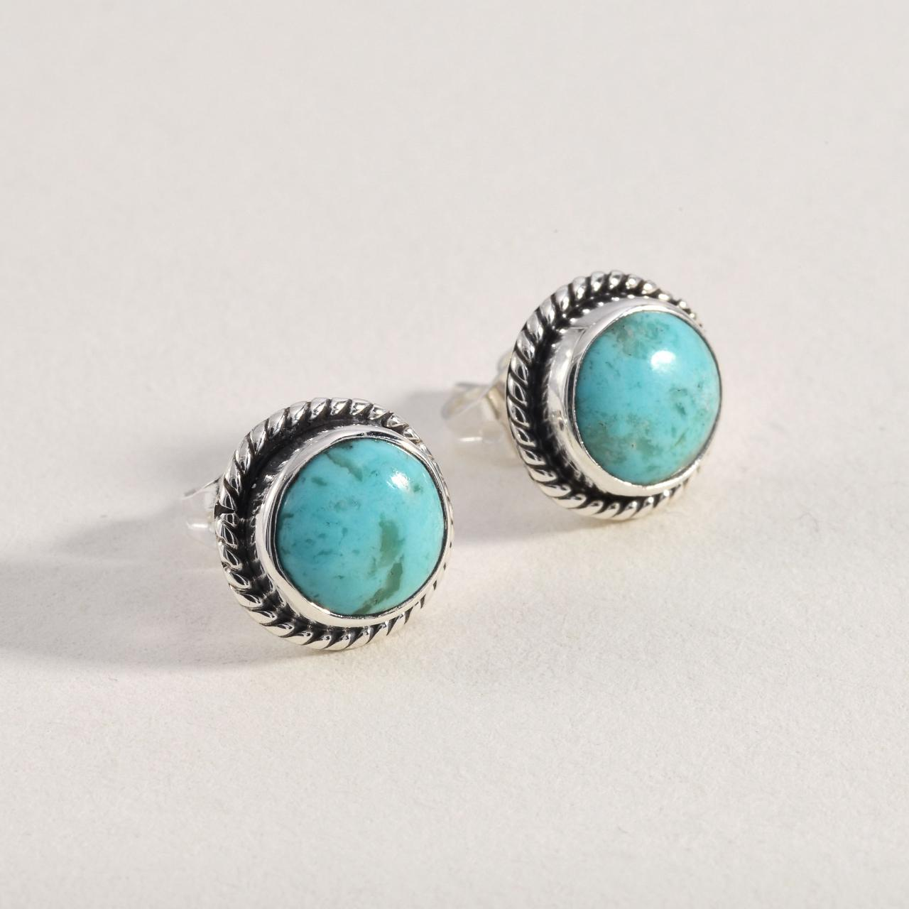 Product Image 1 - Sterling 925 Silver Turquoise Earrings  Sterling