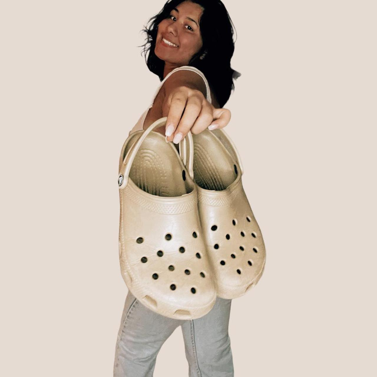 Product Image 1 - TAN CROCS  Size 8 in woman's