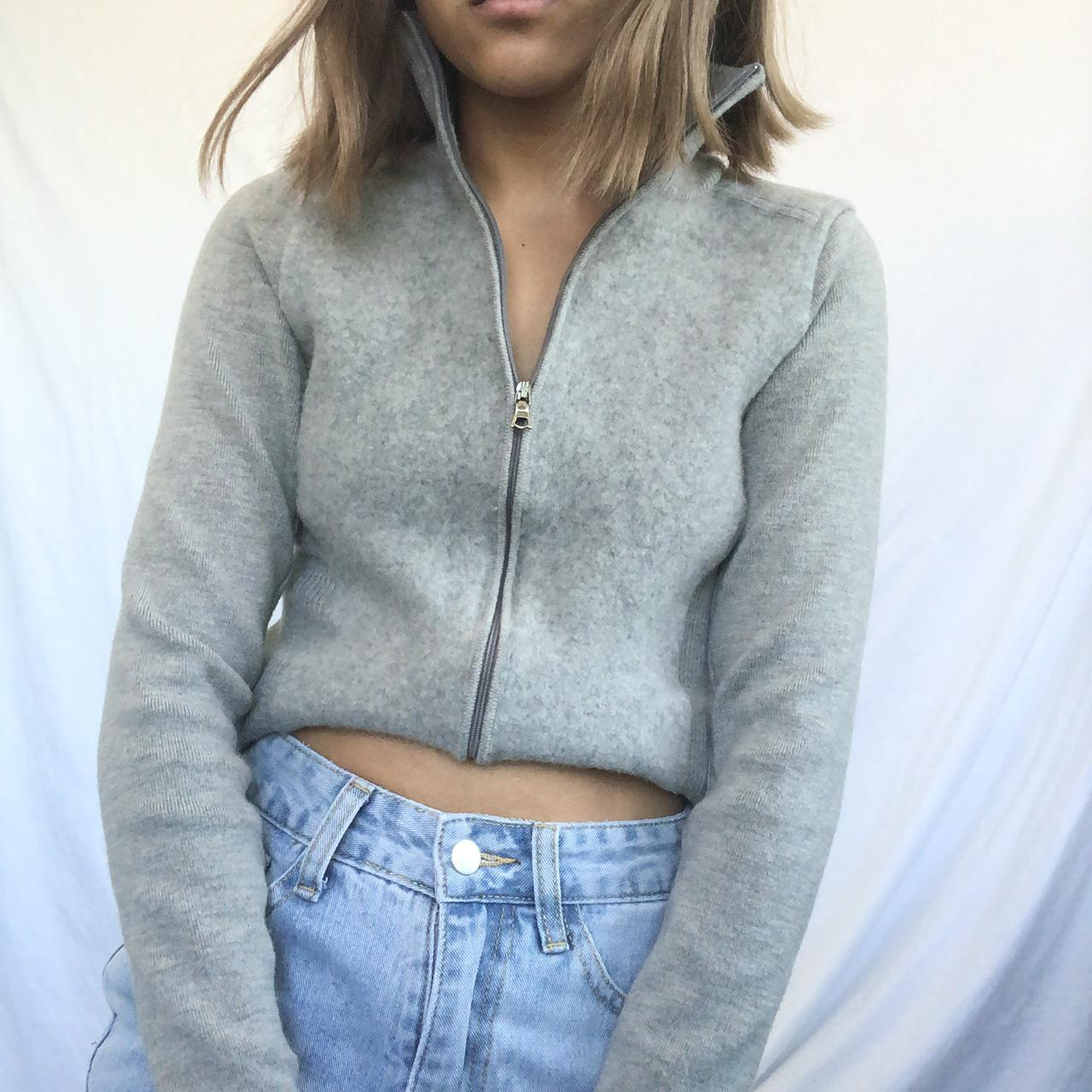 Product Image 1 - Grey knitted long sleeve sweatshirt