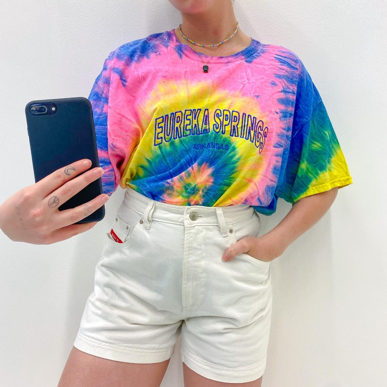 Product Image 1 - Embroidered Tie Dye Tee. Vibrant