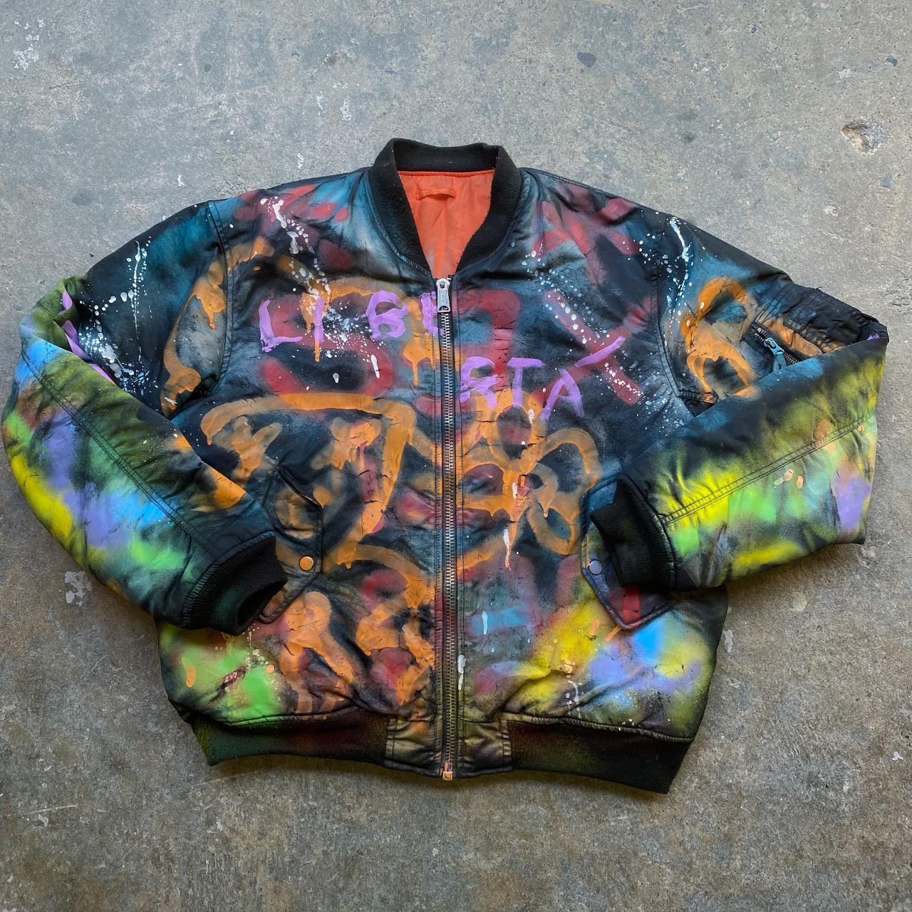 Product Image 1 - Reworked Graffiti Bomber Jacket, zip