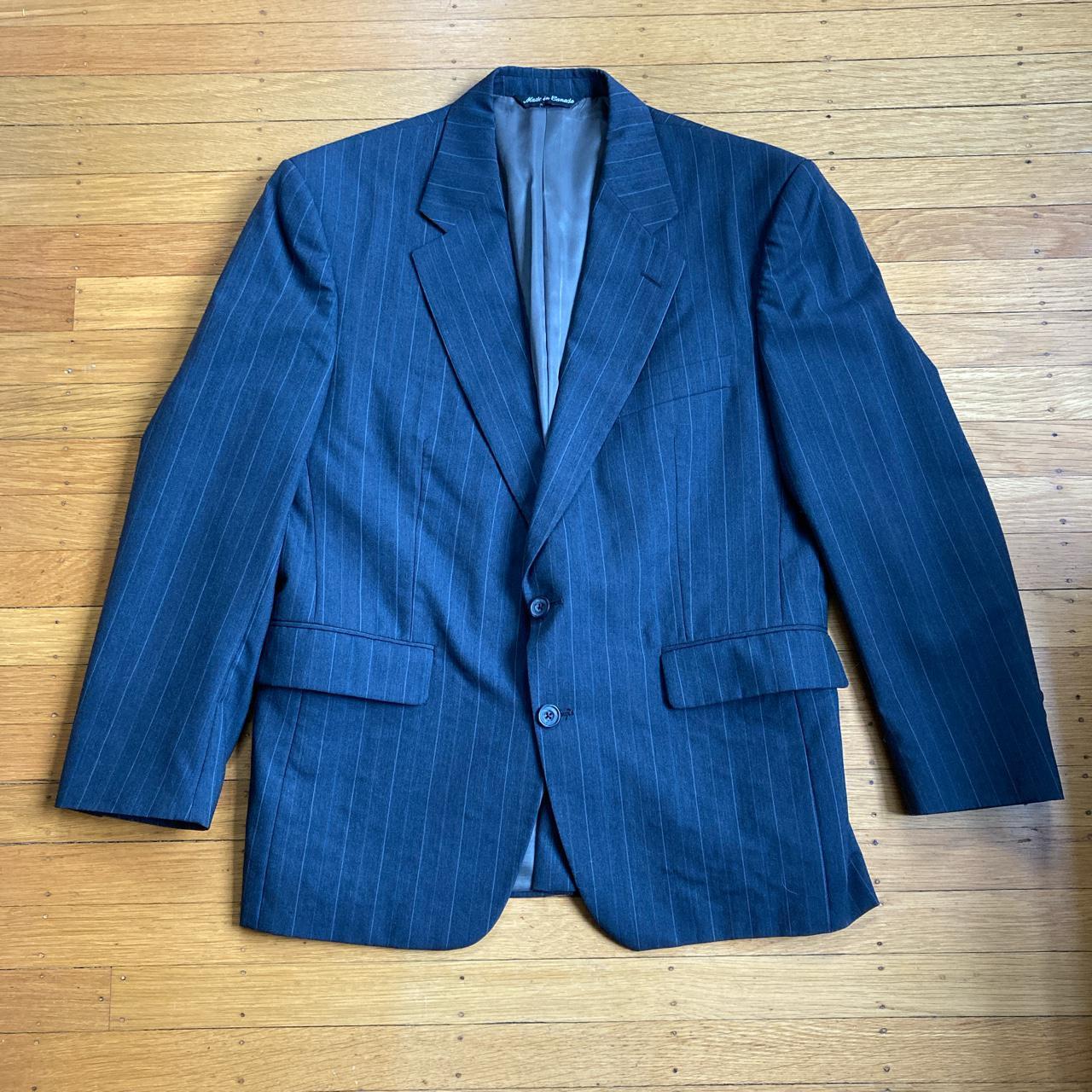 Product Image 1 - vintage aquascutum grey pinstriped suit