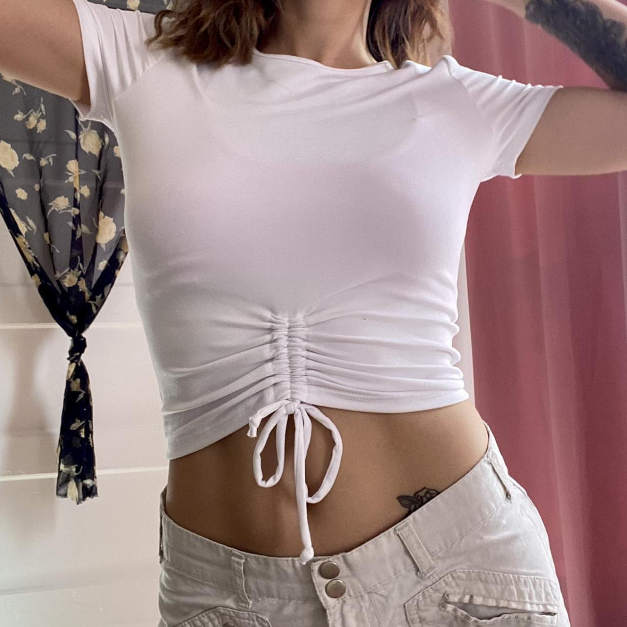 Product Image 1 - ♥︎ white ruched high neck