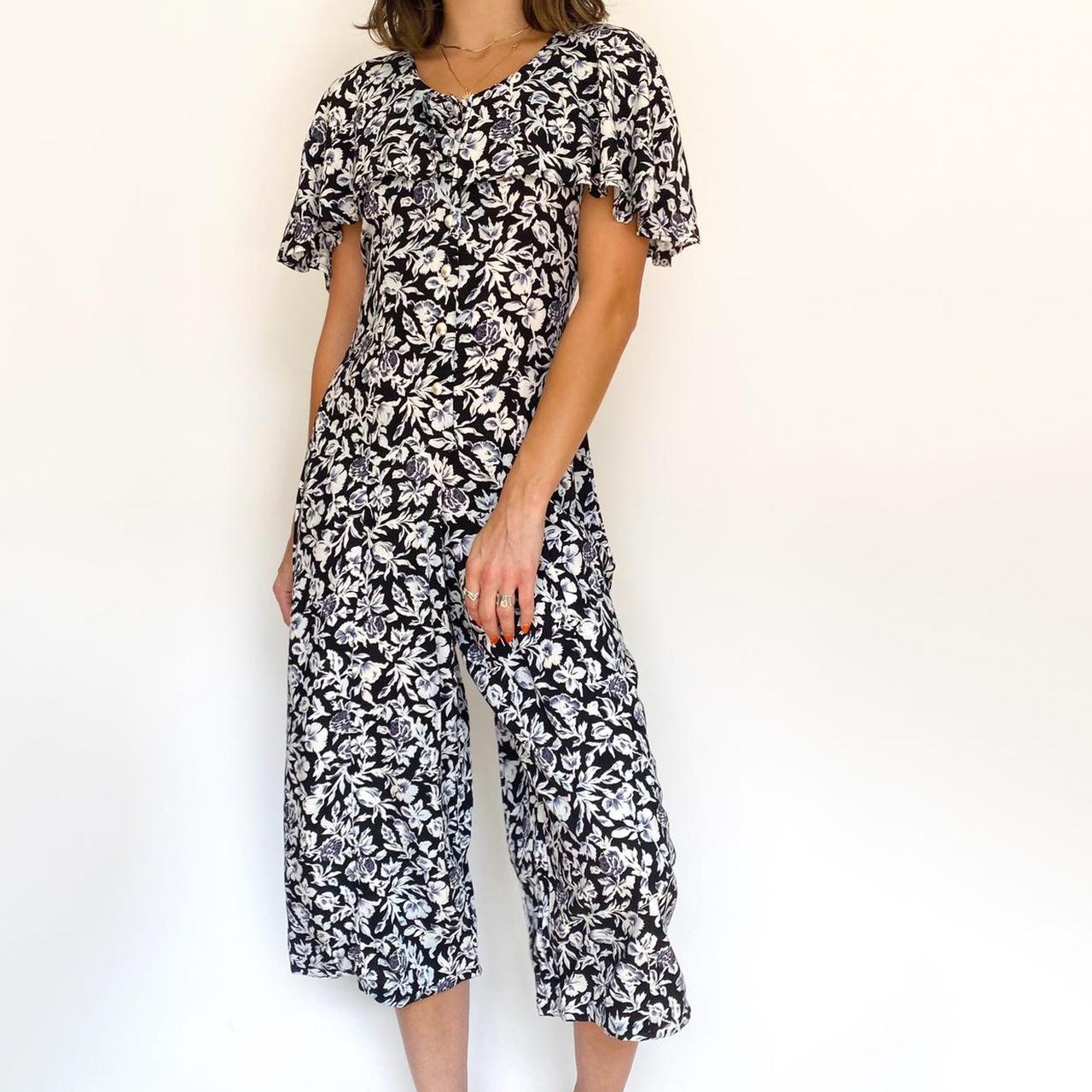Product Image 1 - 90s Vintage Floral Culotte Jumpsuit  •90s
