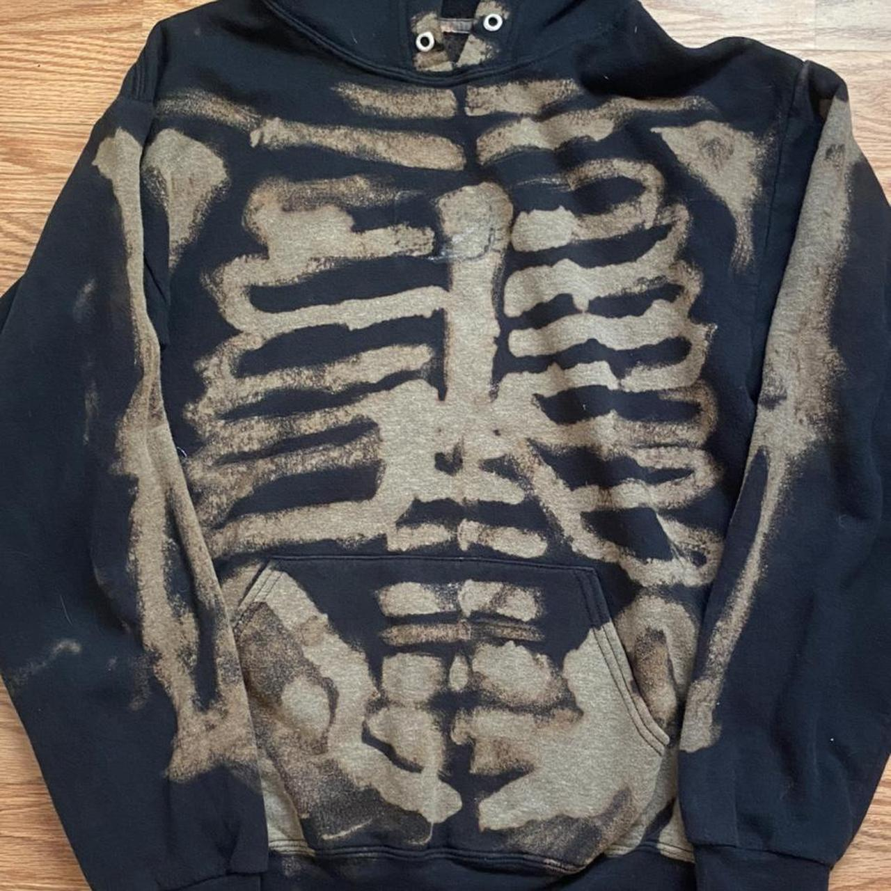 Product Image 1 - bleached skeleton hoodie ✩  size: M  adorable