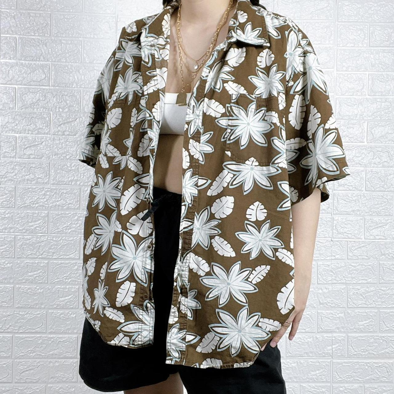 Product Image 1 - Indie Earthcore Brown Hawaiian Button