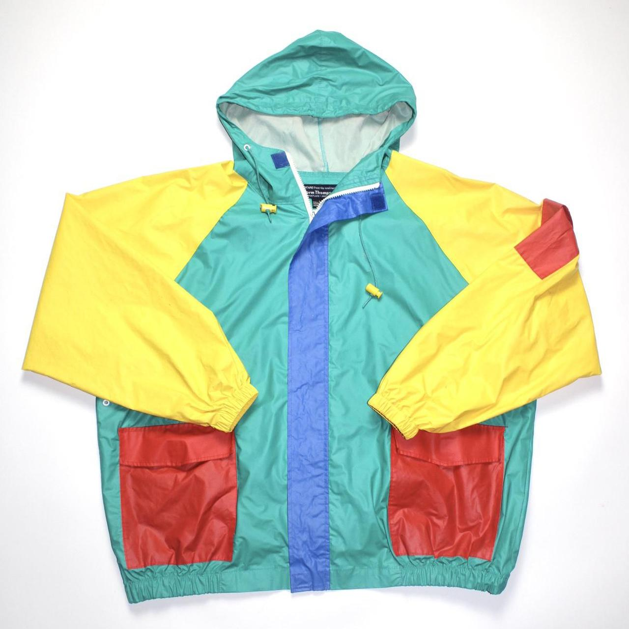 Product Image 1 - Vintage Norm Thompson Multi-Colored Raincoat  Great