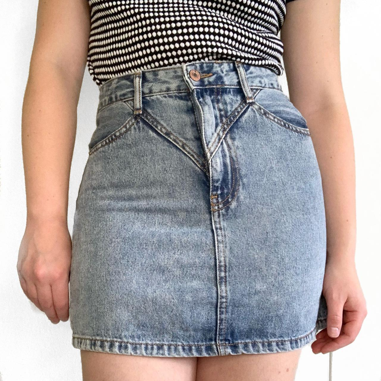 Product Image 1 - vintage inspired denim mini skirt
