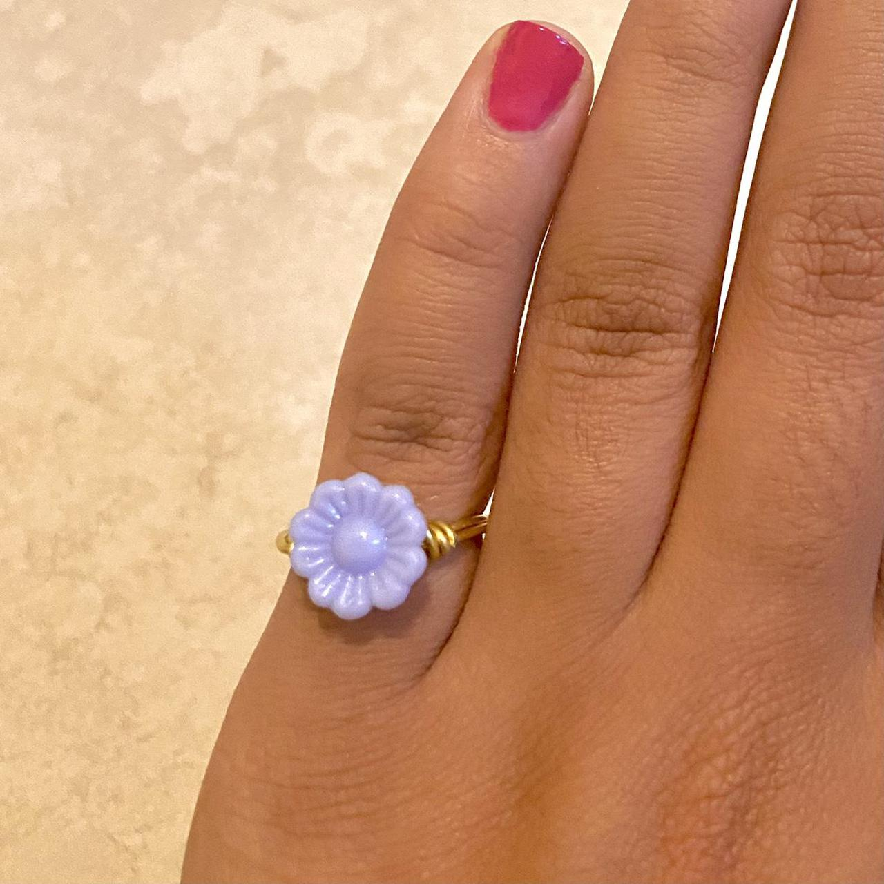 Product Image 1 - Purple Flower Wire Ring✨  -> Size~