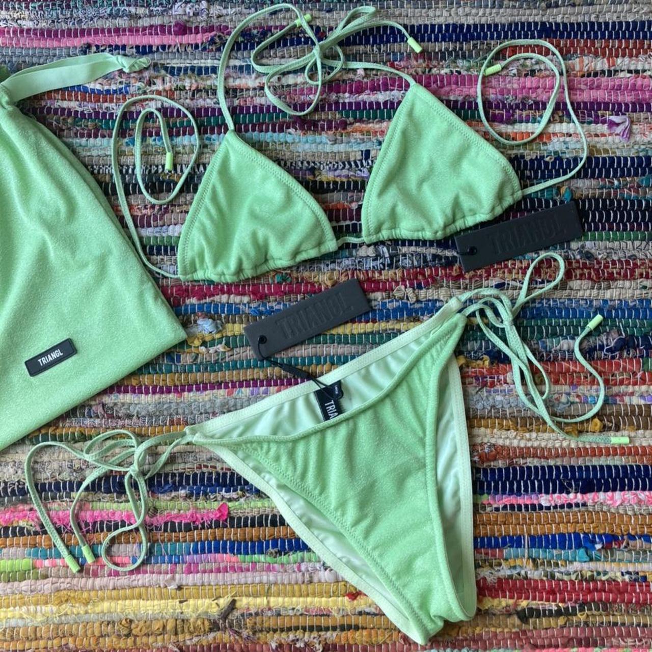 Product Image 1 - NWT green sparkle Triangl bikini