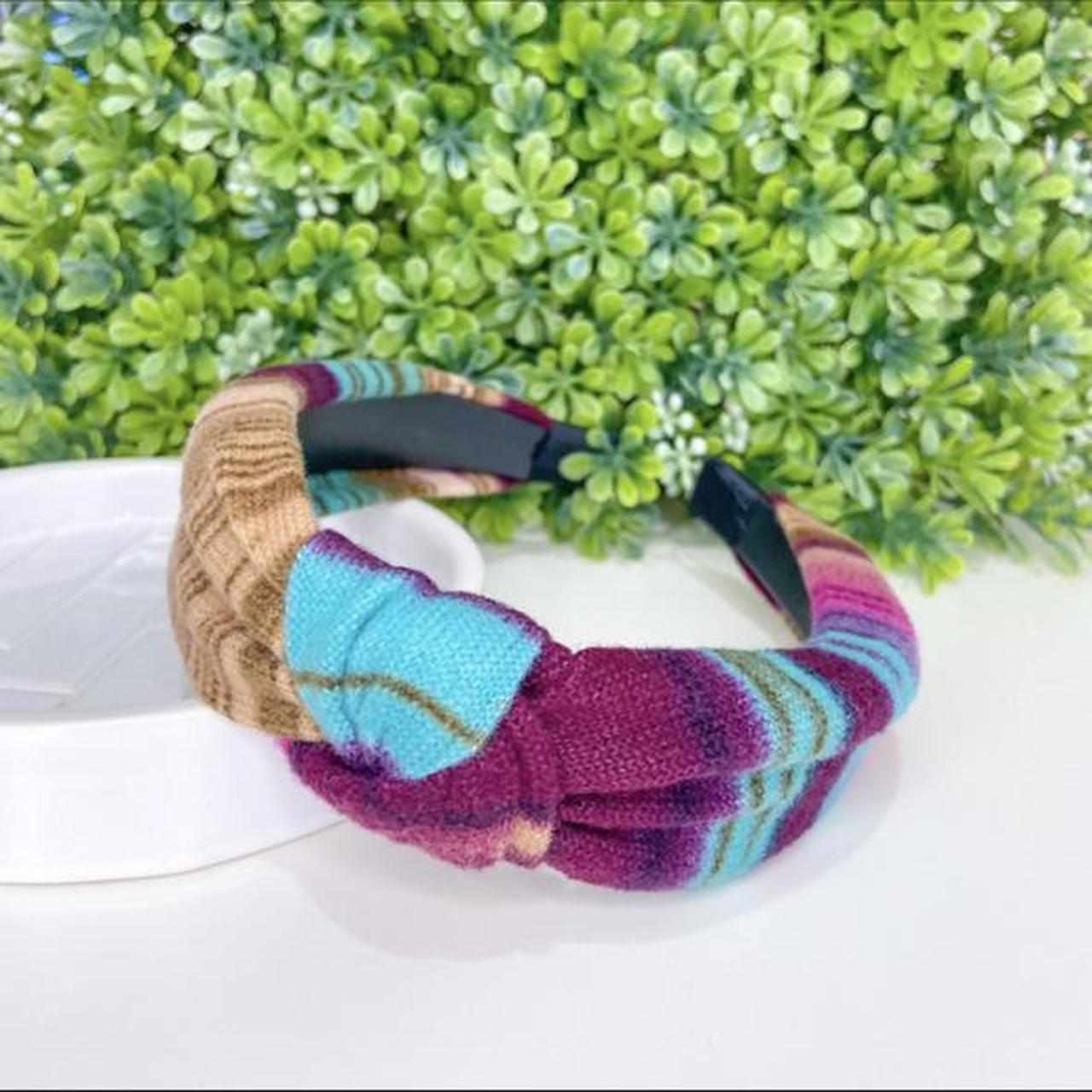Product Image 1 - Colorful flannel knotted headband   🌼headband