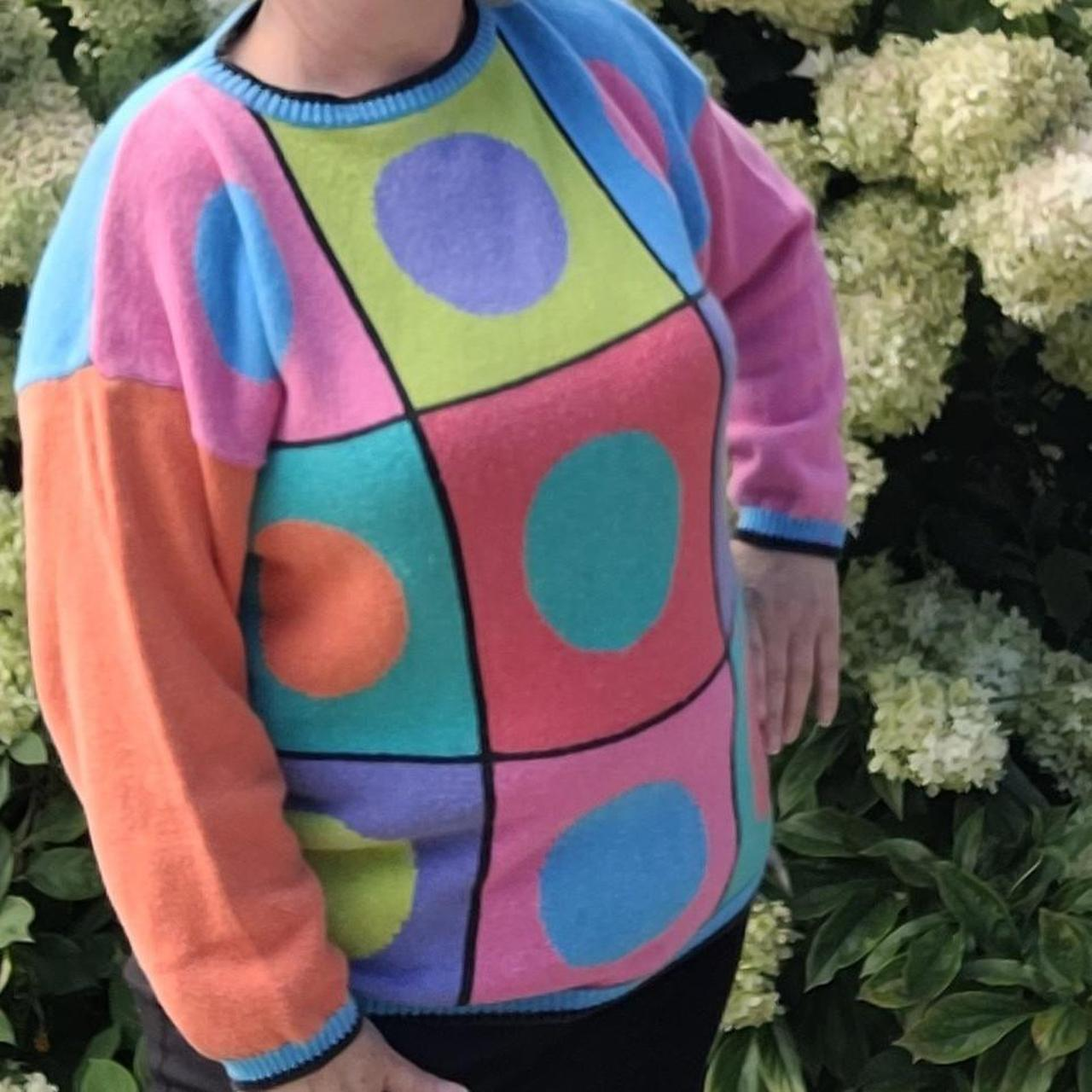 Product Image 1 - Colorful Geometric Sweater by MY brand 80's