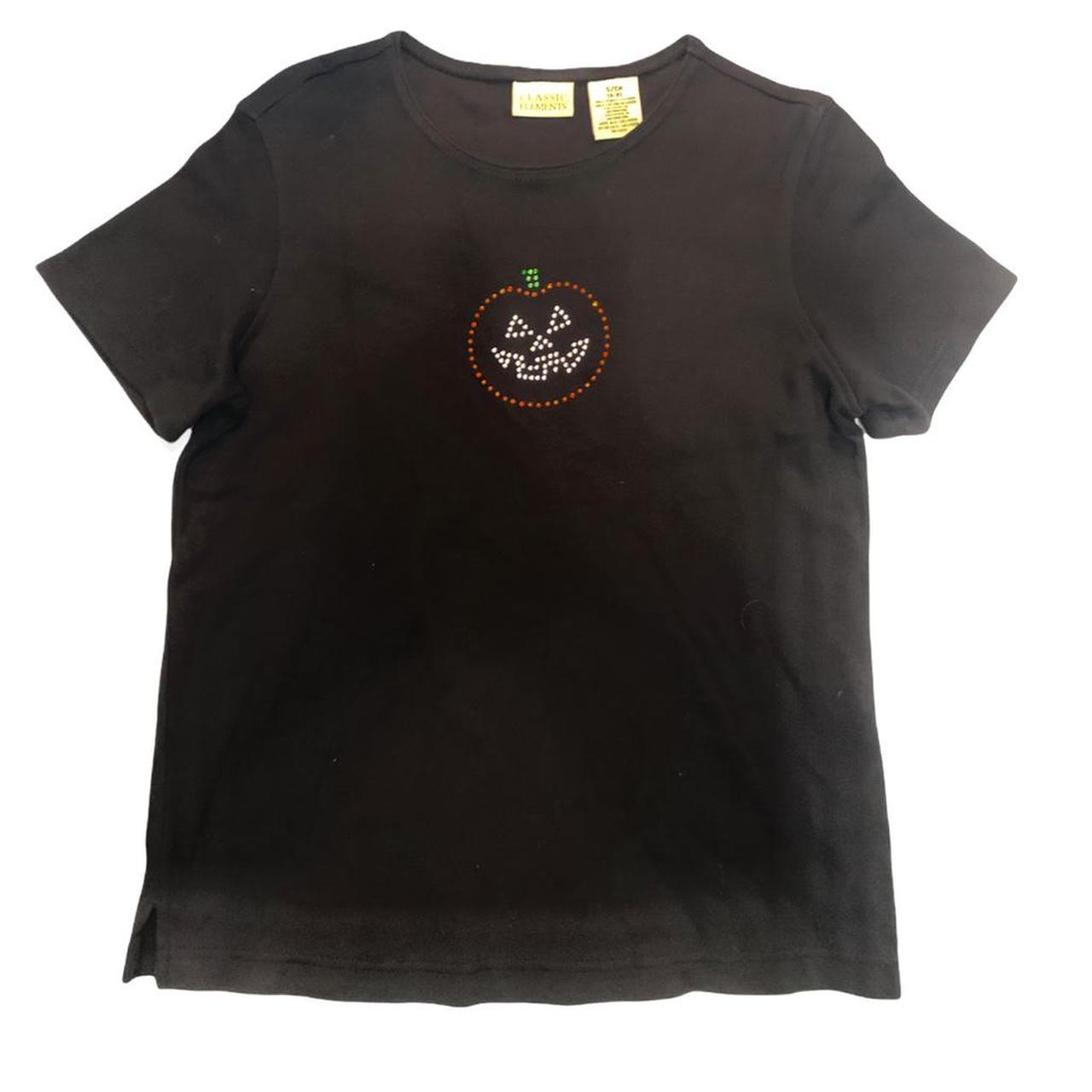 Product Image 1 - Vintage Halloween pumpkin shirt rhinestone