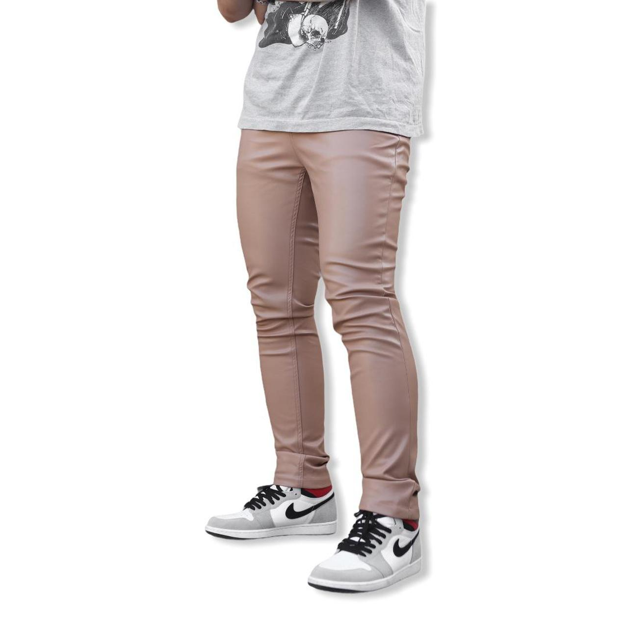 Product Image 1 - Leather Pants Beige • Skinny fit,