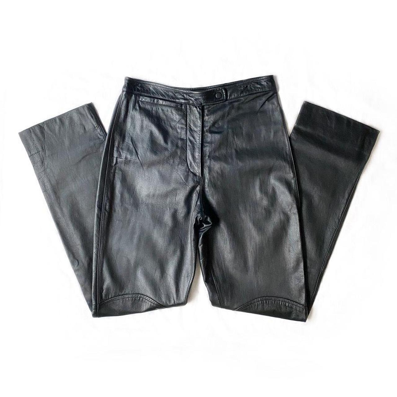 Product Image 1 - Vintage black leather pants. Has