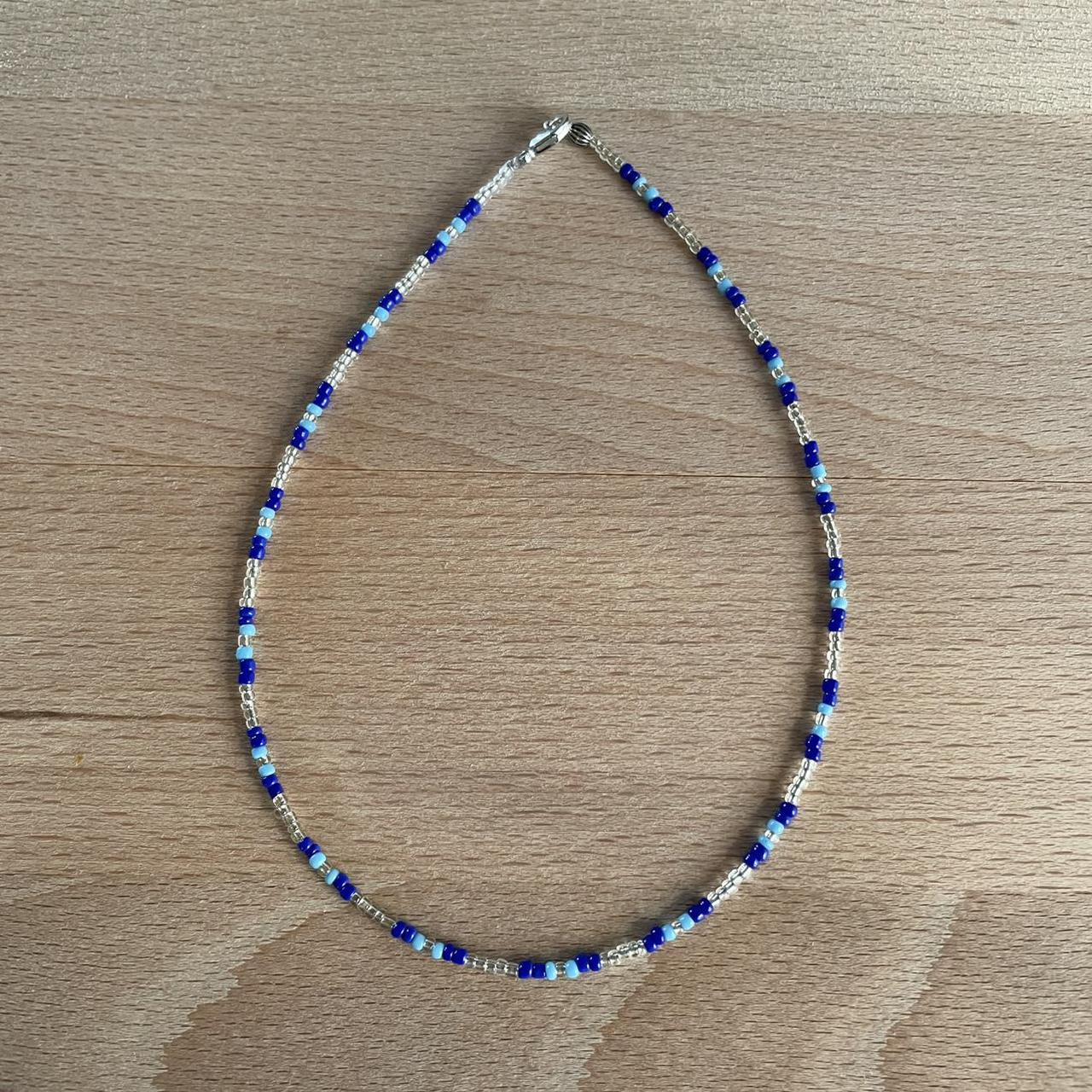 Product Image 1 - 🧿💙blues seed bead necklace💙🧿  -handmade by