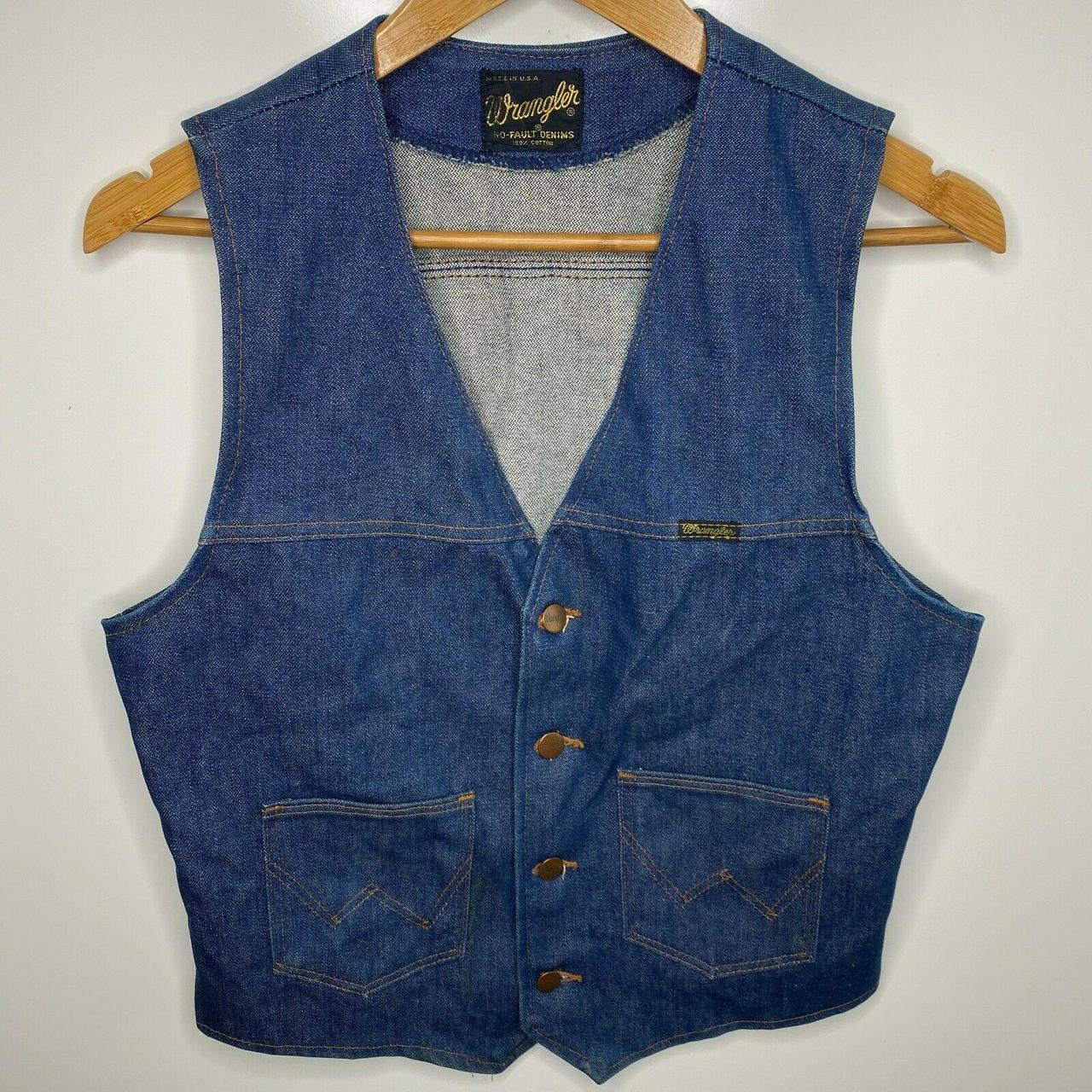 Product Image 1 - Wrangler Denim Vest Men's S