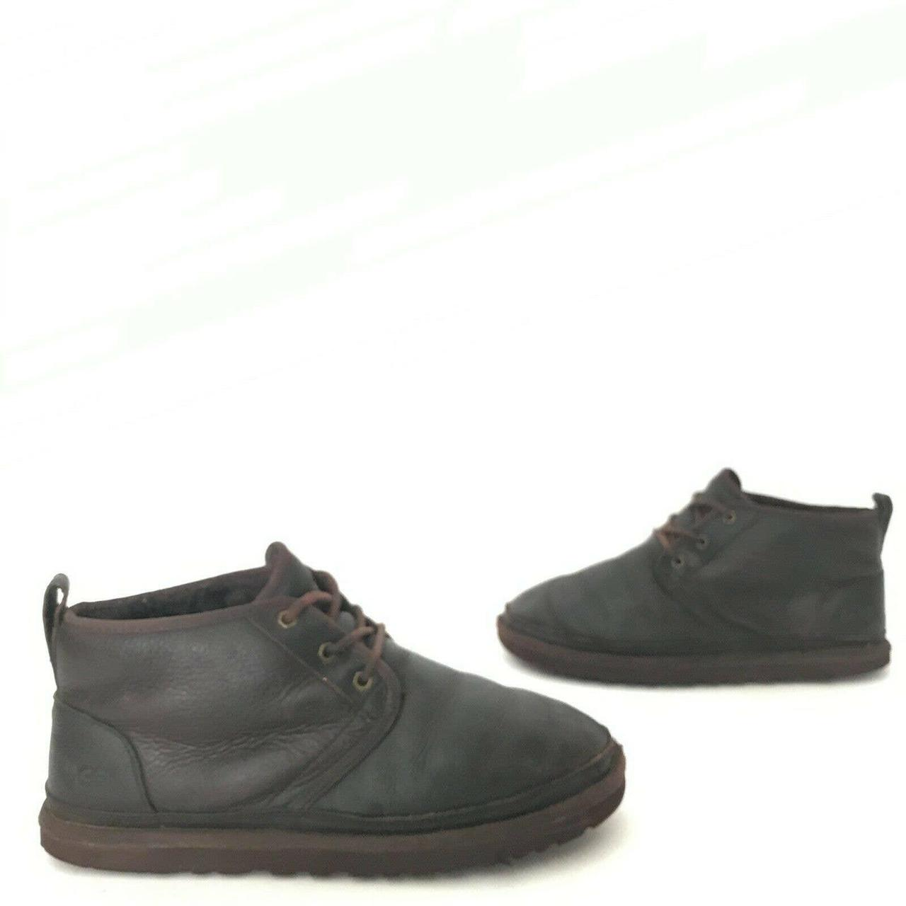 Product Image 1 - Round toe. Brown pebbled leather