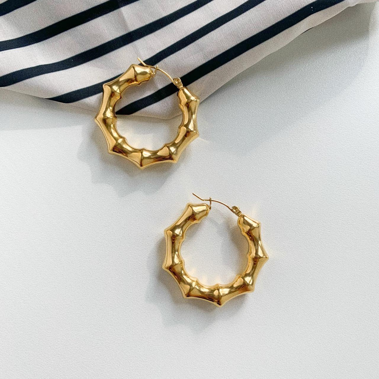 Product Image 1 - Bamboo gold earrings bamboo joint