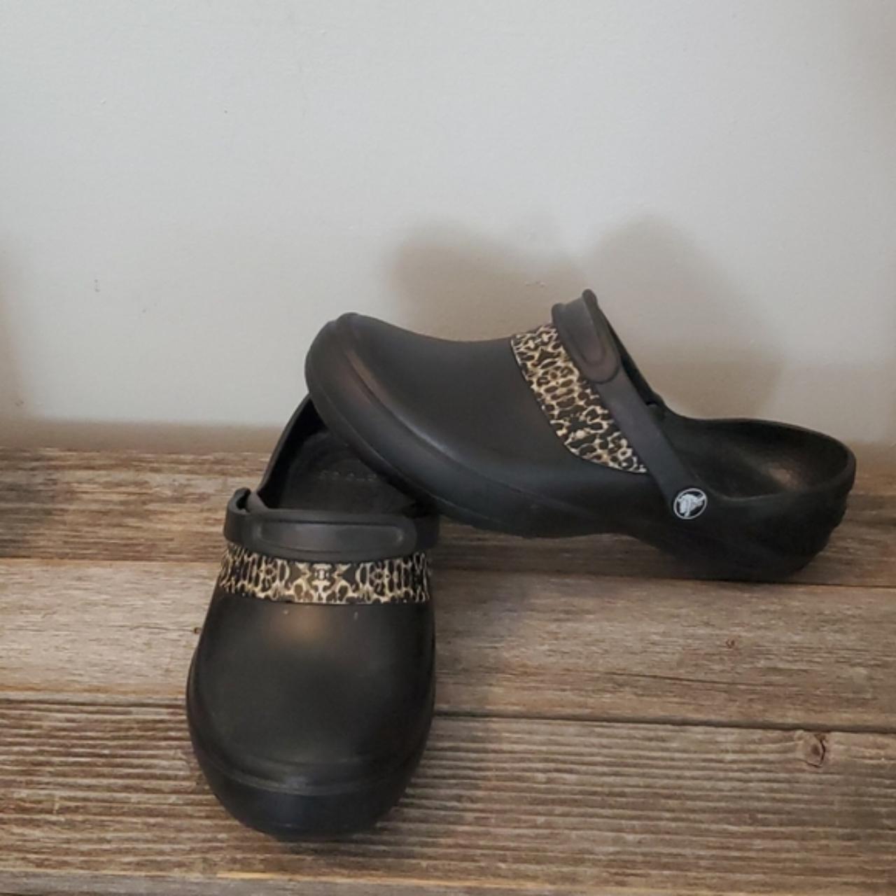 Product Image 1 - Crocs Black with Animal Print  Preloved..black