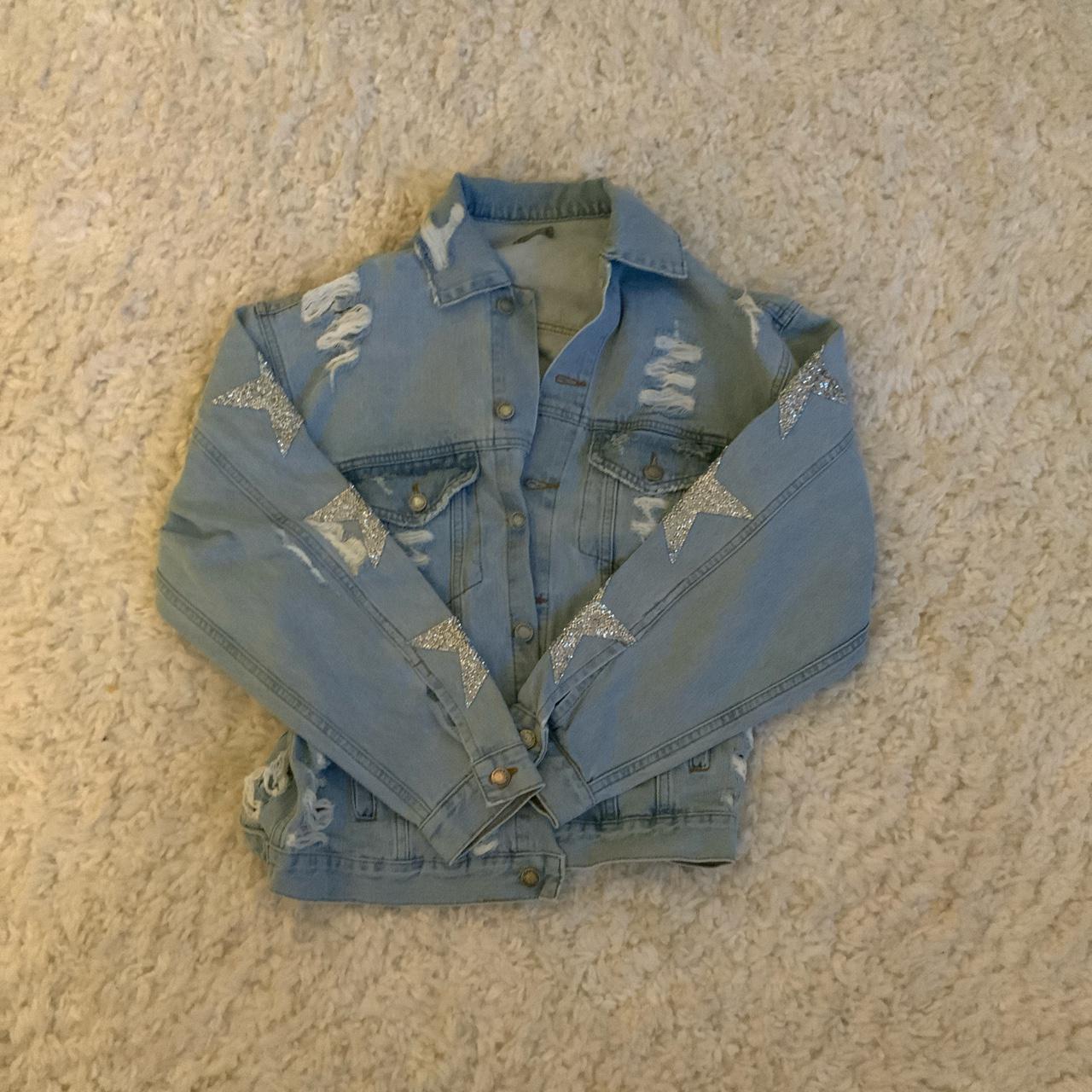 Product Image 1 - lf ripped oversized denim jacket