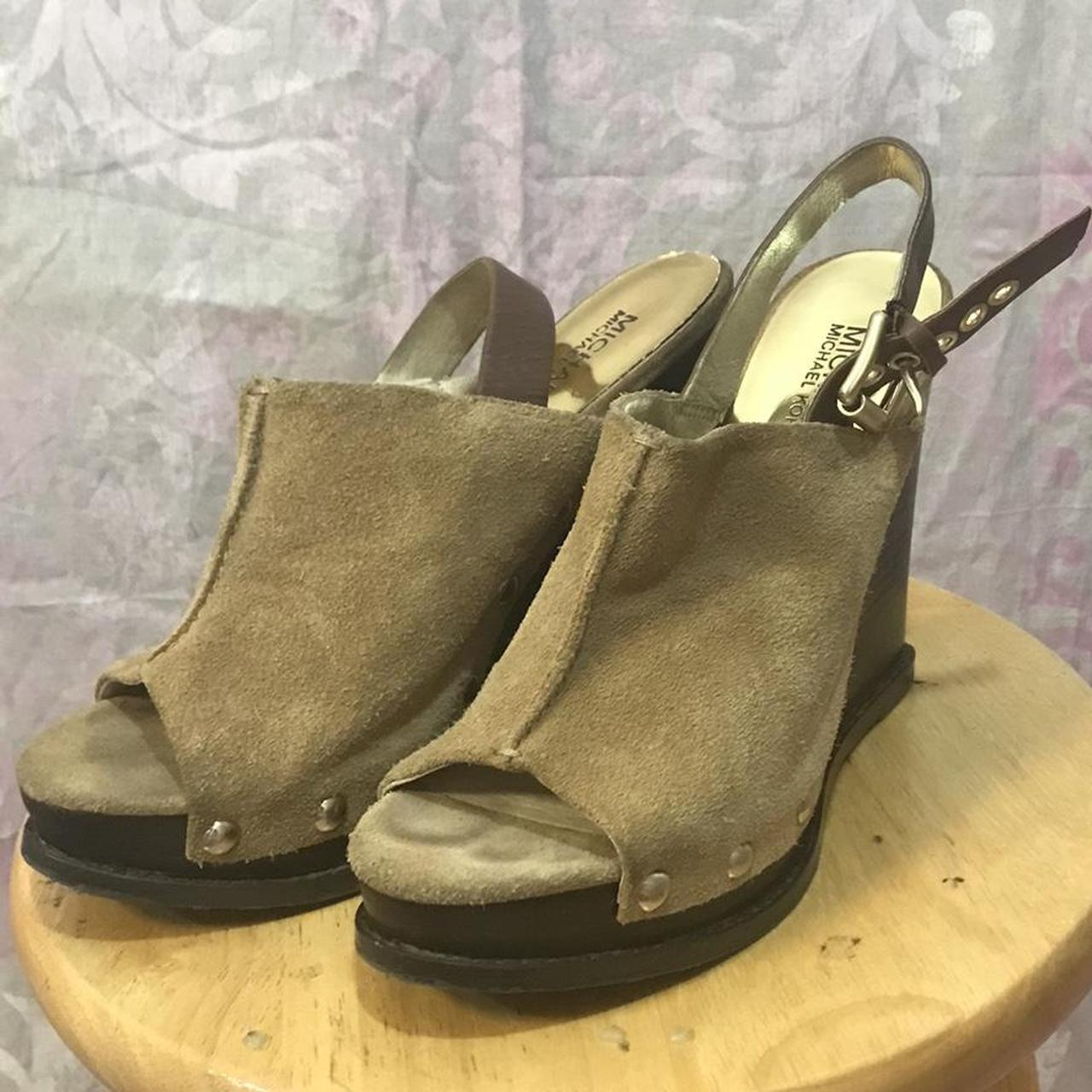 Product Image 1 - Michael Kors wedges Size 7.5 Leather upper  #michaelkors