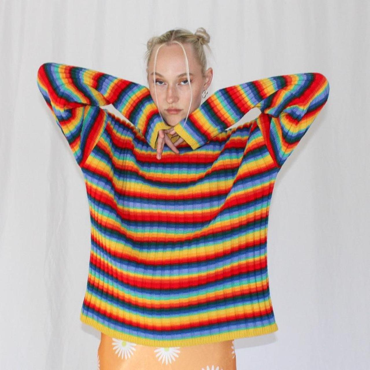 Product Image 1 - Vintage 90's Moschino Jeans Rainbow