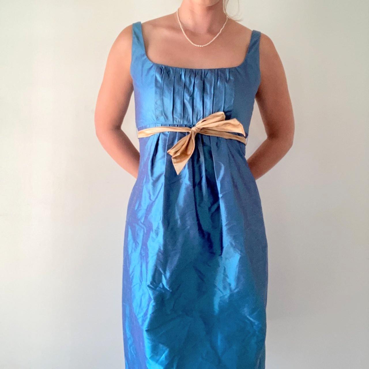 Product Image 1 - BLUE SILK TAFFETA COCKTAIL DRESS  Gorgeous