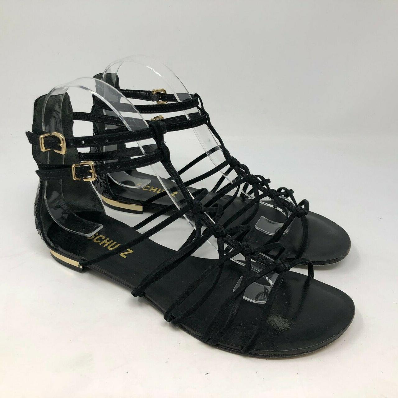 Product Image 1 - schutz black strappy sequin heel