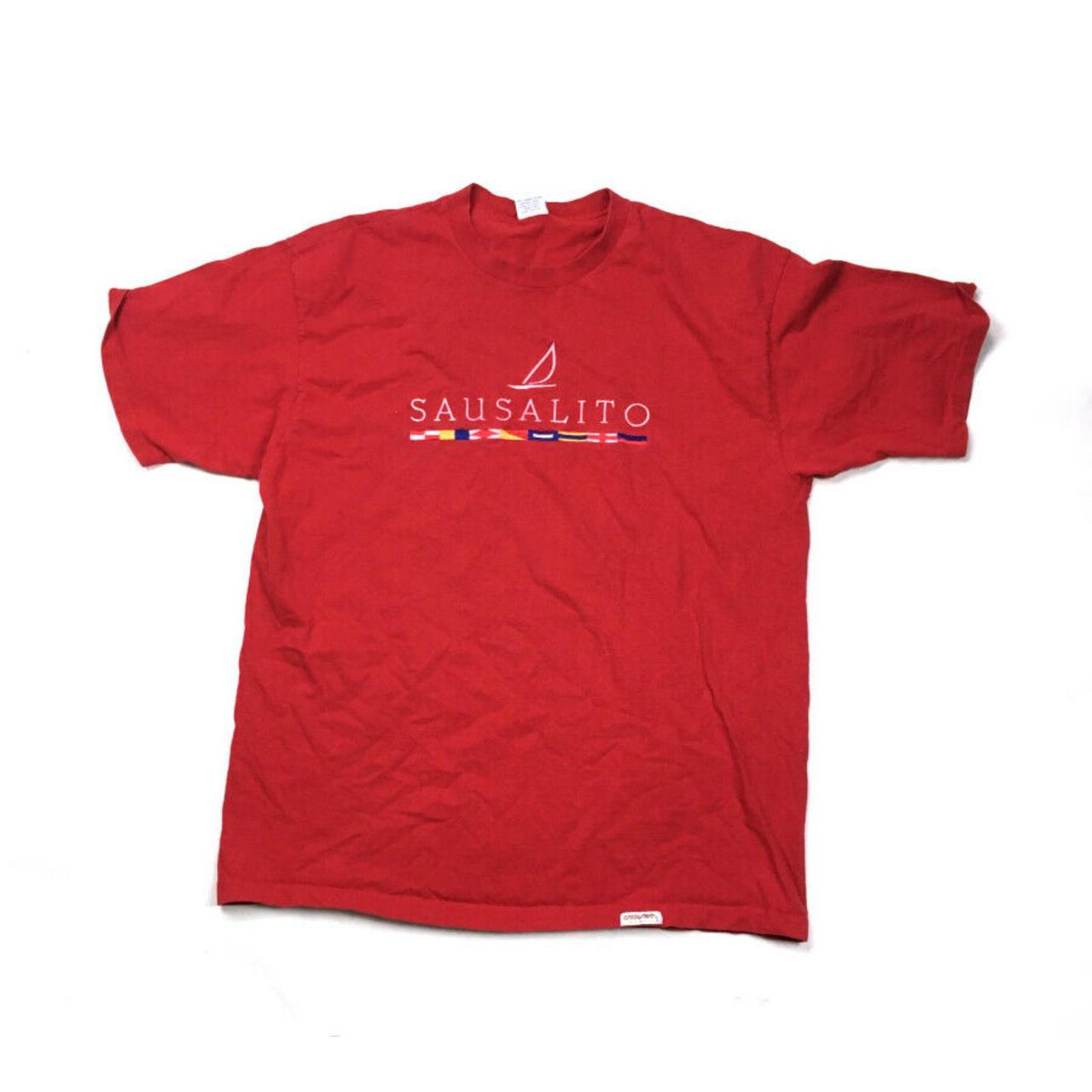 Product Image 1 - VTG Sausalito Red Embroidered T-Shirt