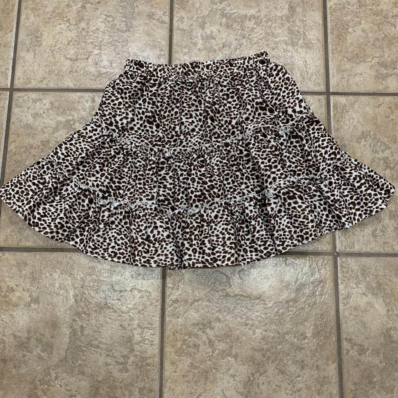 Product Image 1 - Ruffled cheetah print skirt from