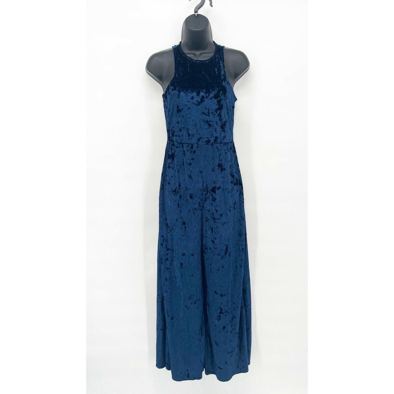 Product Image 1 - Vtg Womens Blue Crushed Velvet