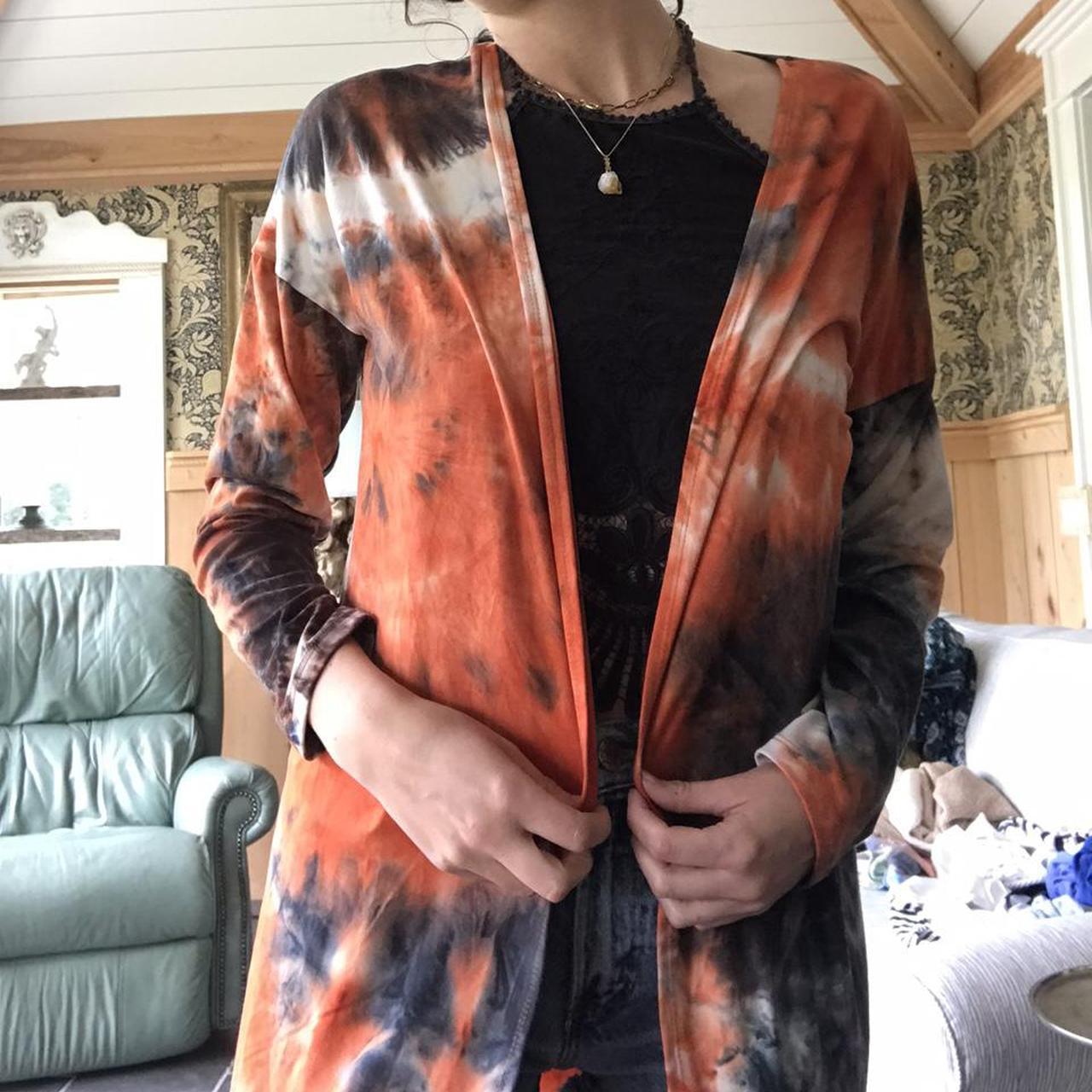 Product Image 1 - Long orange grey and white