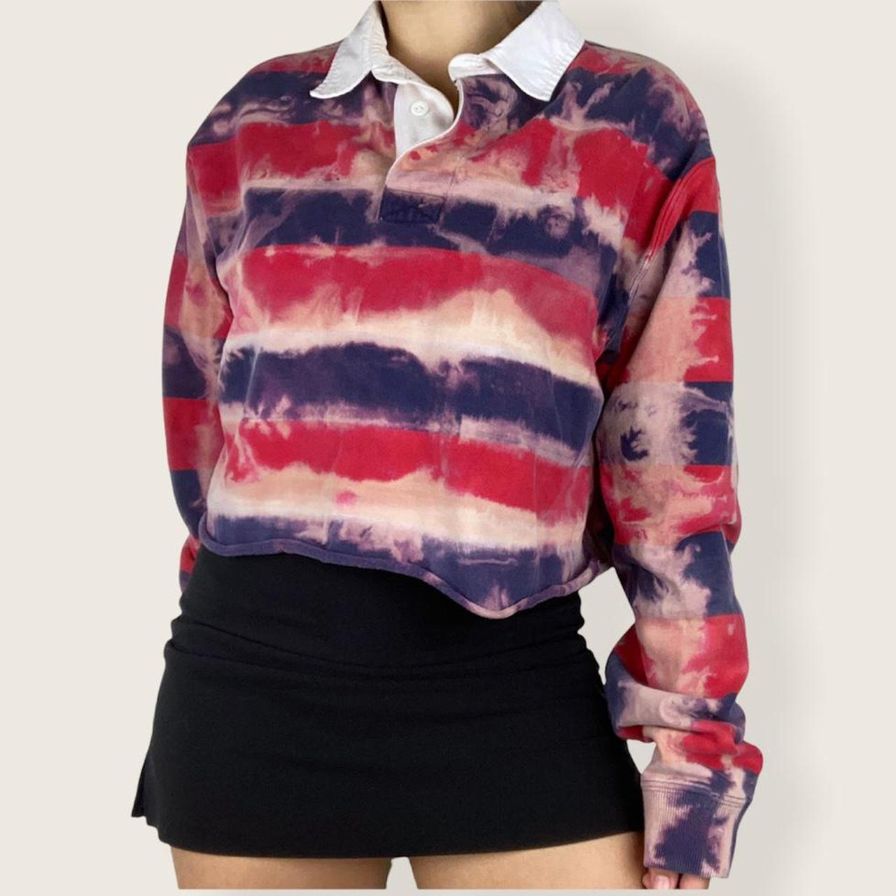 Product Image 1 - Striped collared sweater 🍉  Striped colorful