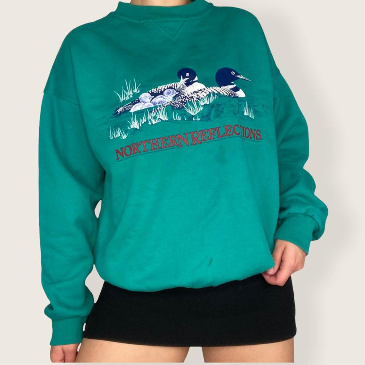 Product Image 1 - Teal animal crewneck🌾  The comfiest sweater
