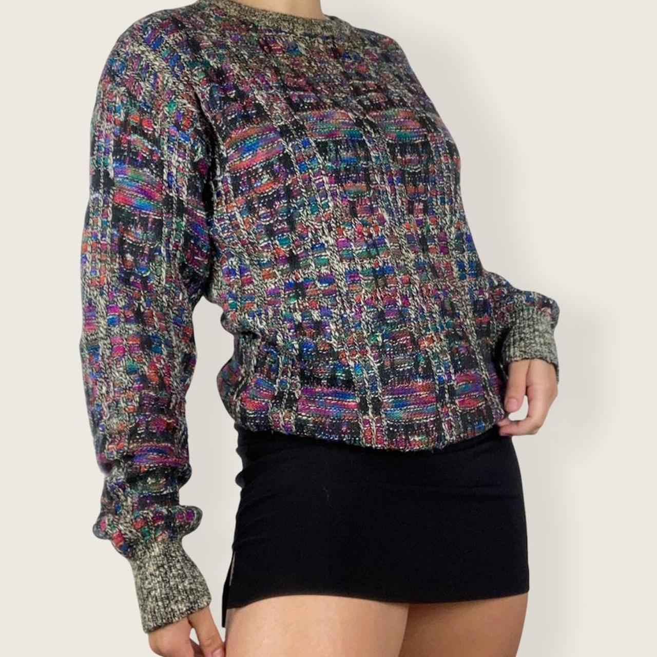 Product Image 1 - Chunky knit sweater✨  Beautiful colorful knit